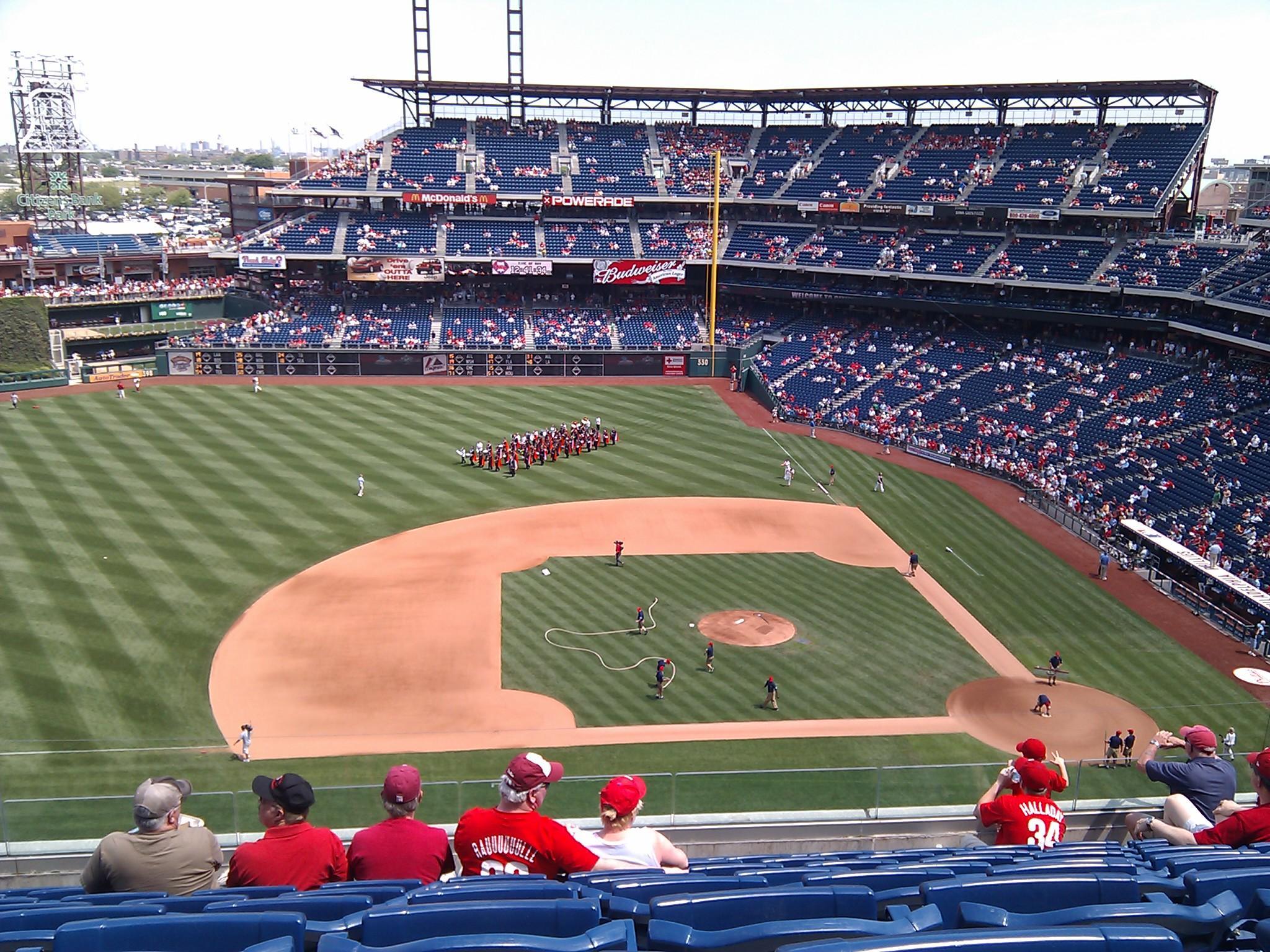 Citizens Bank Park Section 326 Row 9 Seat 20