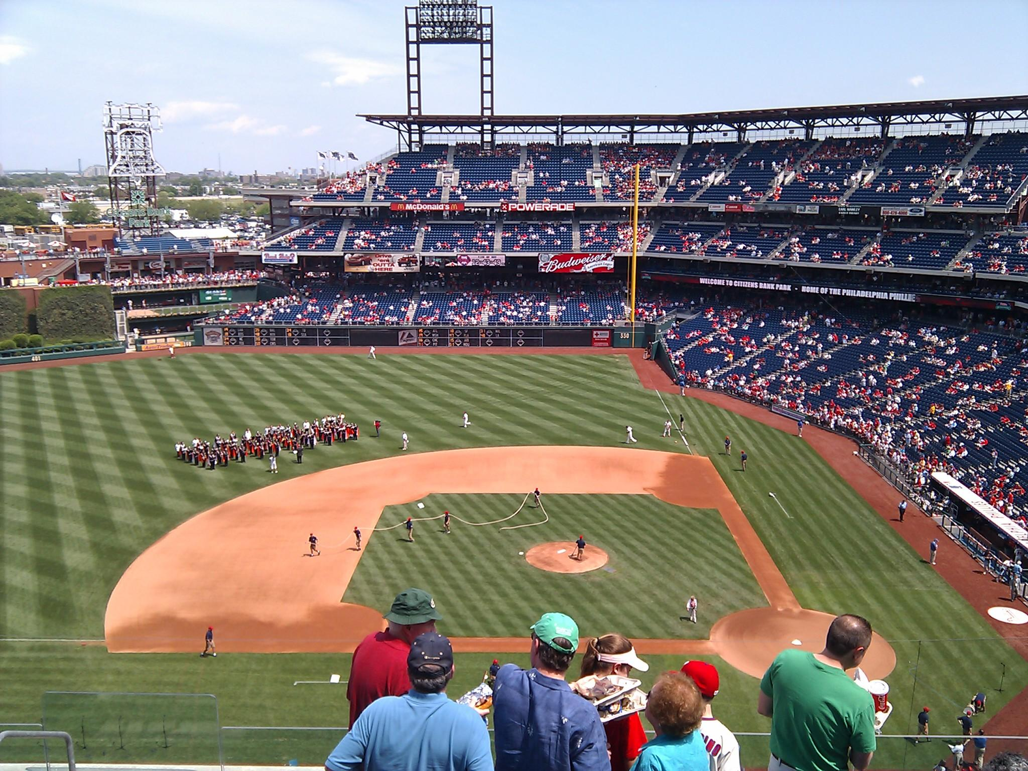 Citizens Bank Park Section 325 Row 8 Seat 20