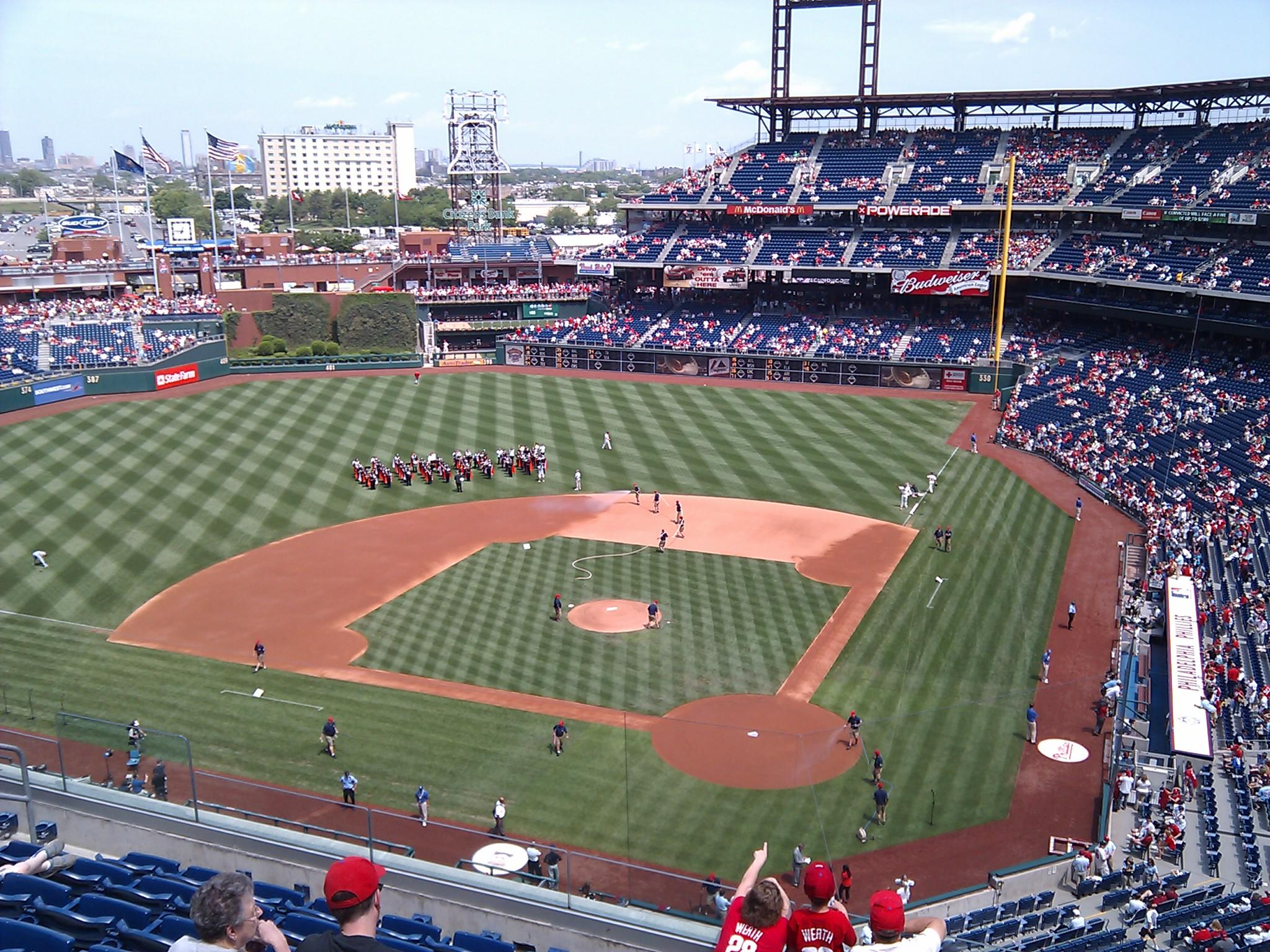 Citizens Bank Park Section 323 Row 8 Seat 1
