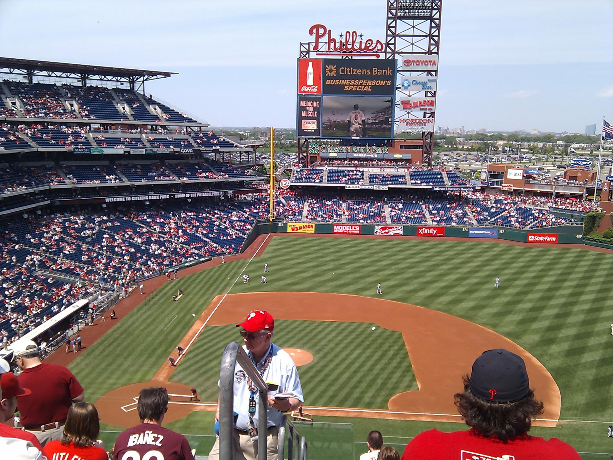 Citizens Bank Park Section 315 Row 8 Seat 24