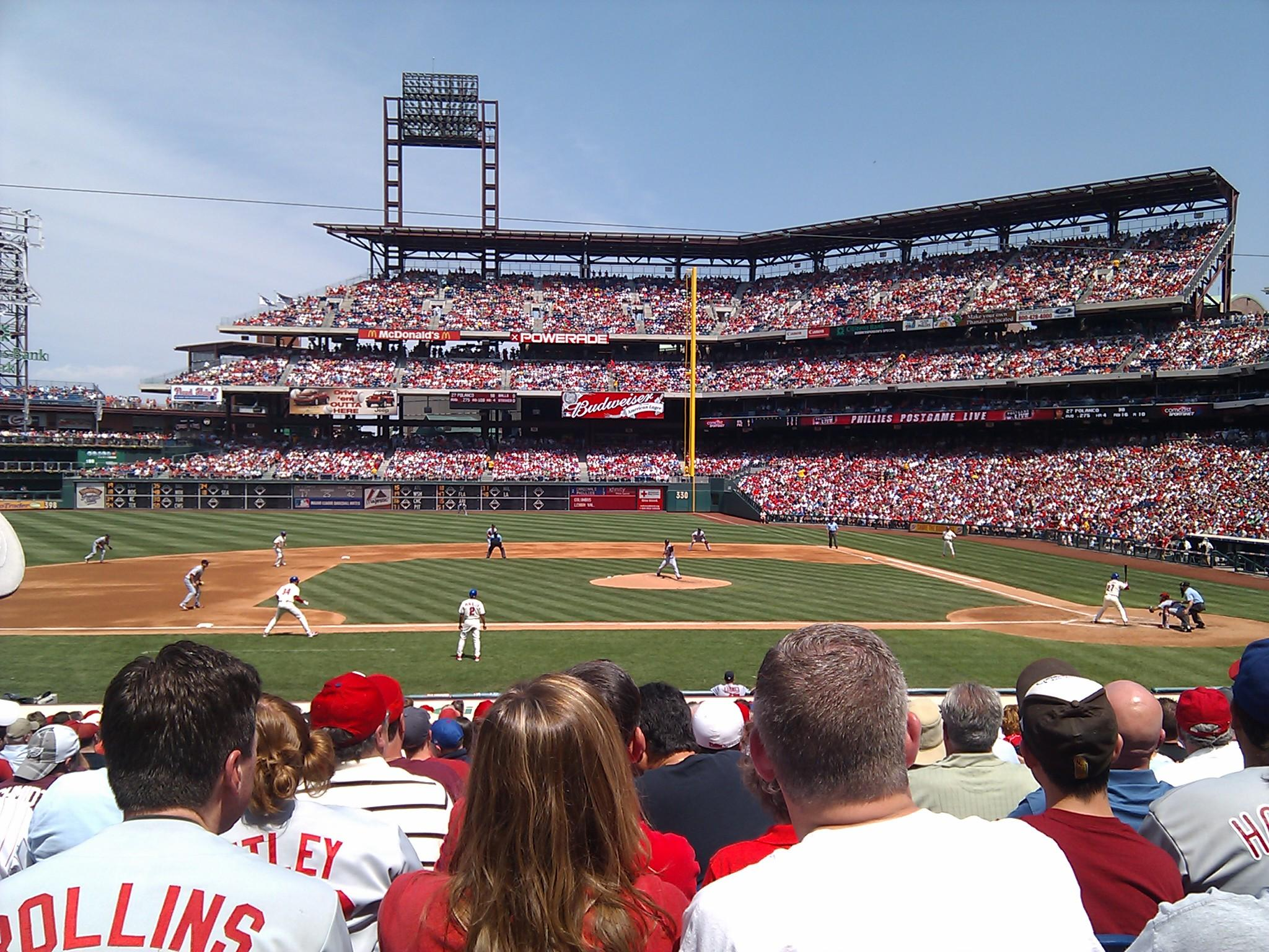 Citizens Bank Park Section 130 Row 20 Seat 14