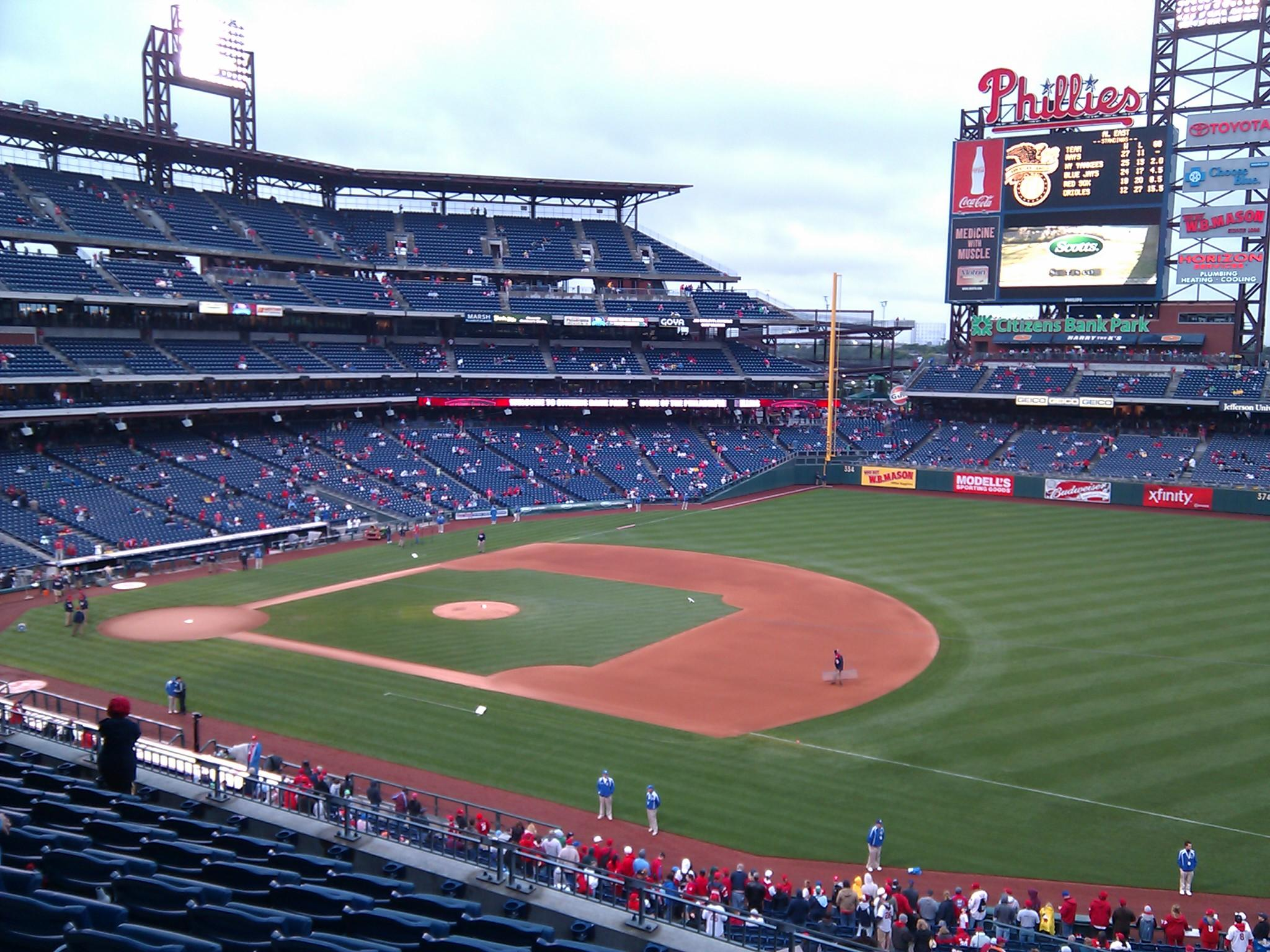 Citizens Bank Park Section 211 Row 9 Seat 1