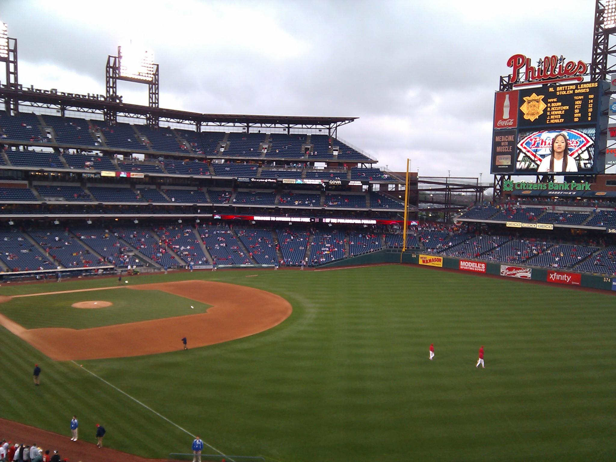 Citizens Bank Park Section 207 Row 10 Seat 23