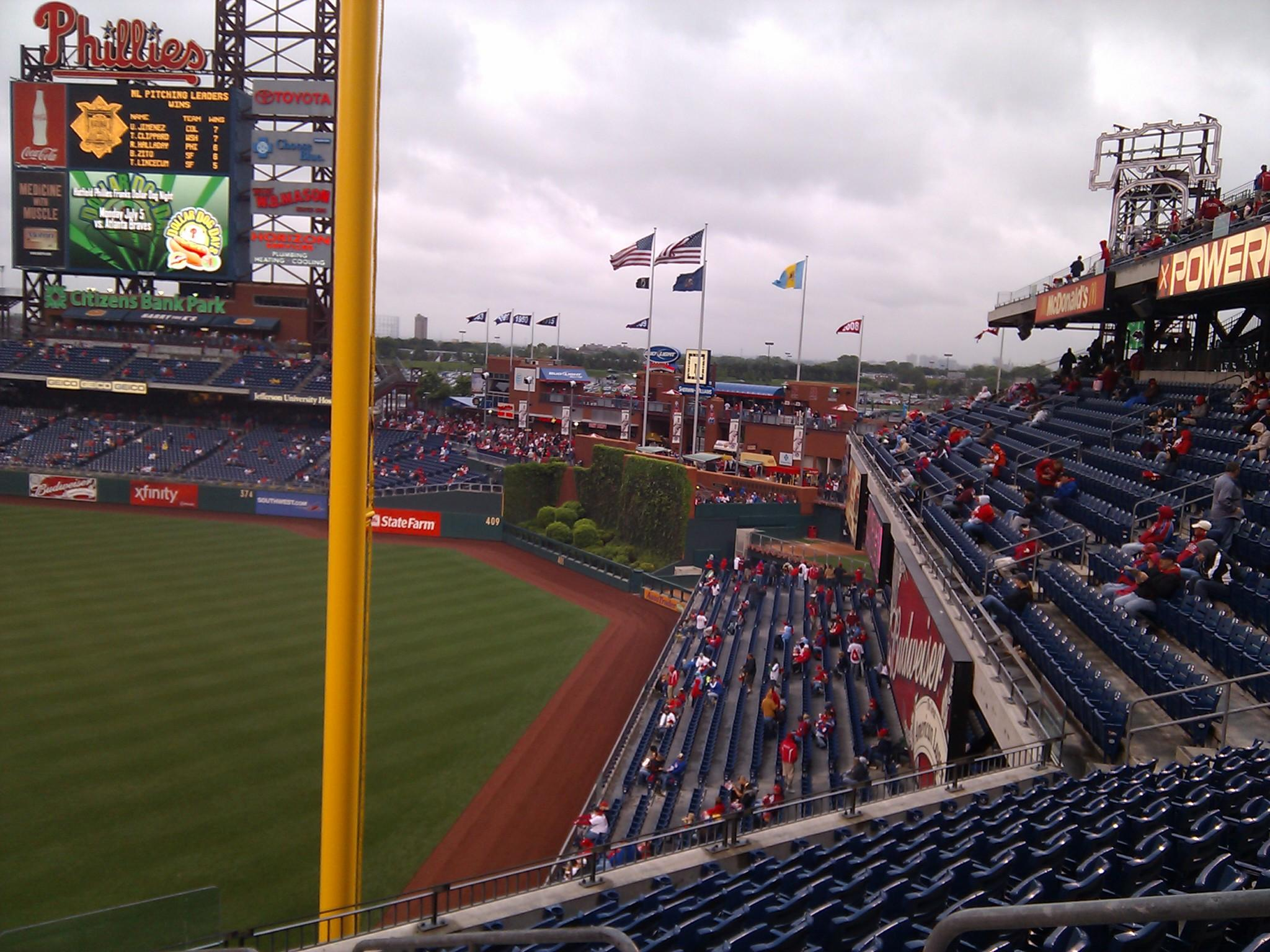 Citizens Bank Park Section 207 Row 9 Seat 3
