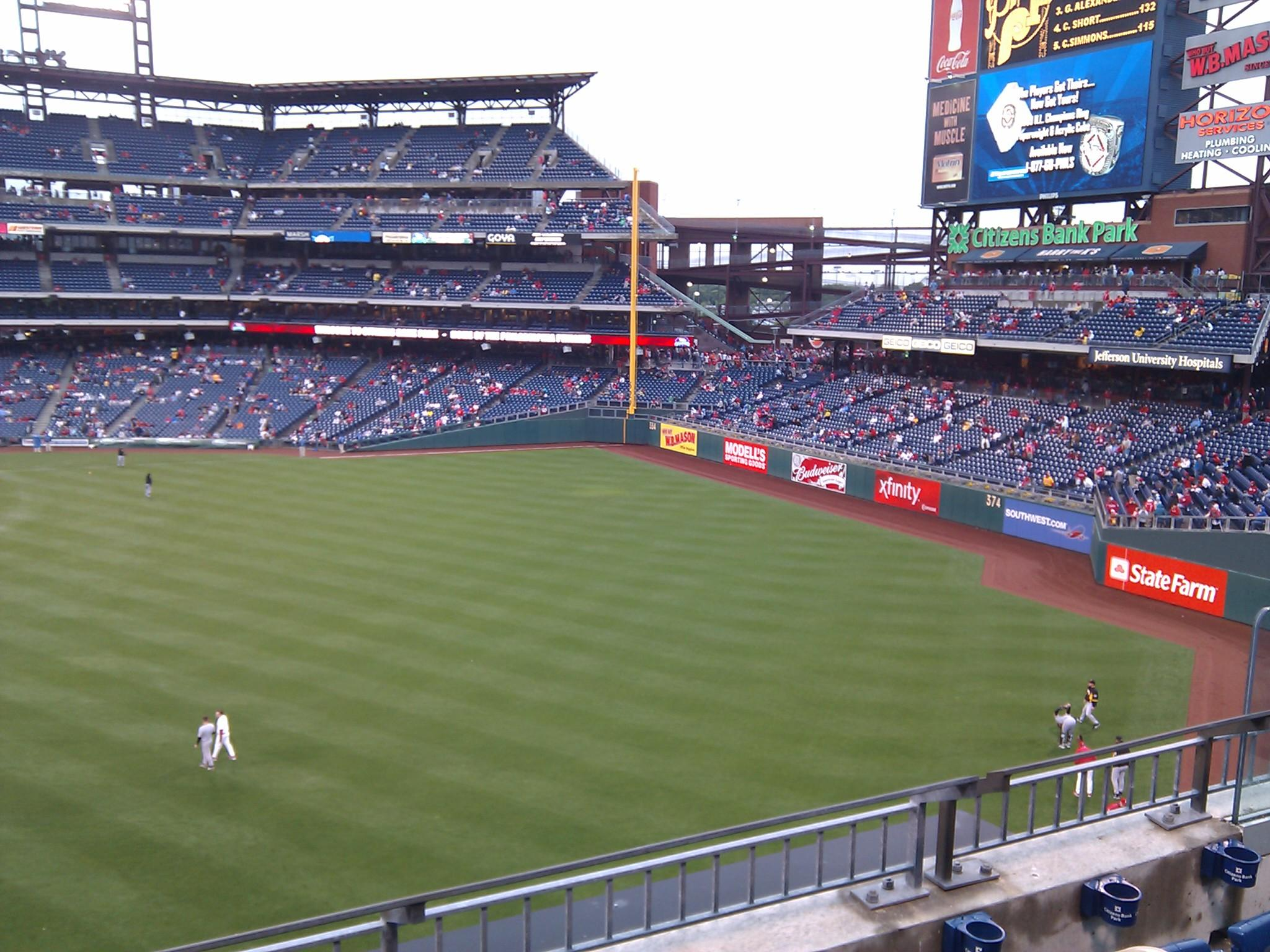 Citizens Bank Park Section 202 Row 2 Seat 7