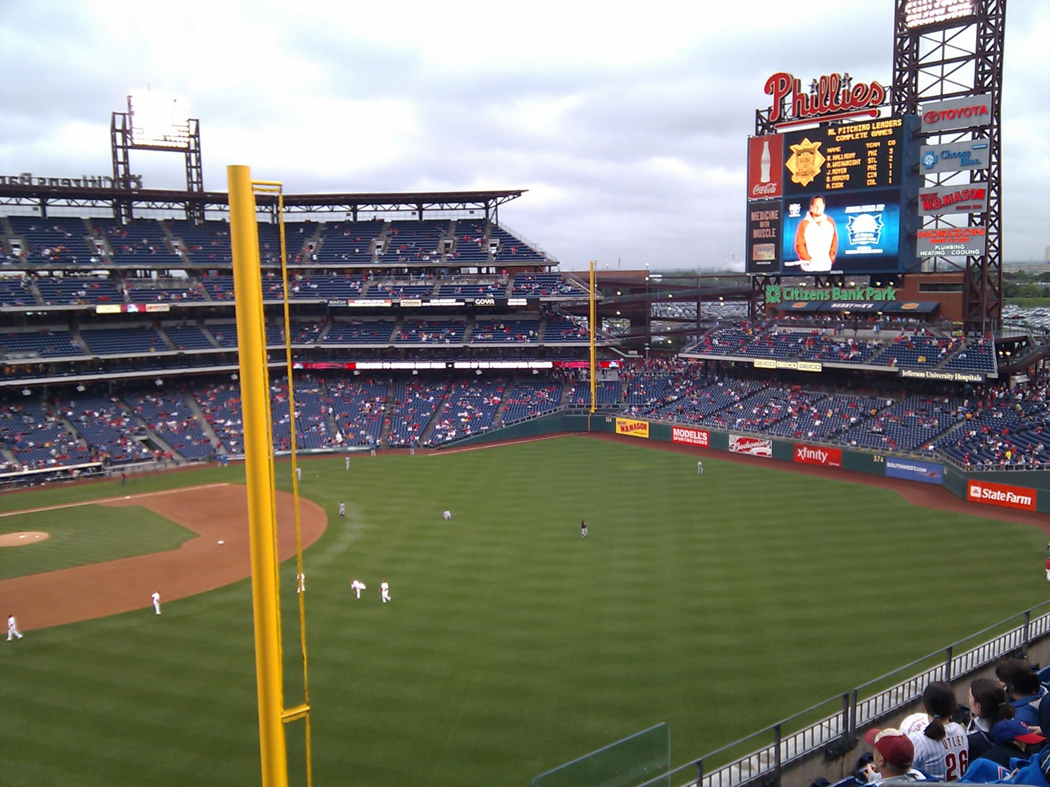 Citizens Bank Park Section 306 Row 7 Seat 1