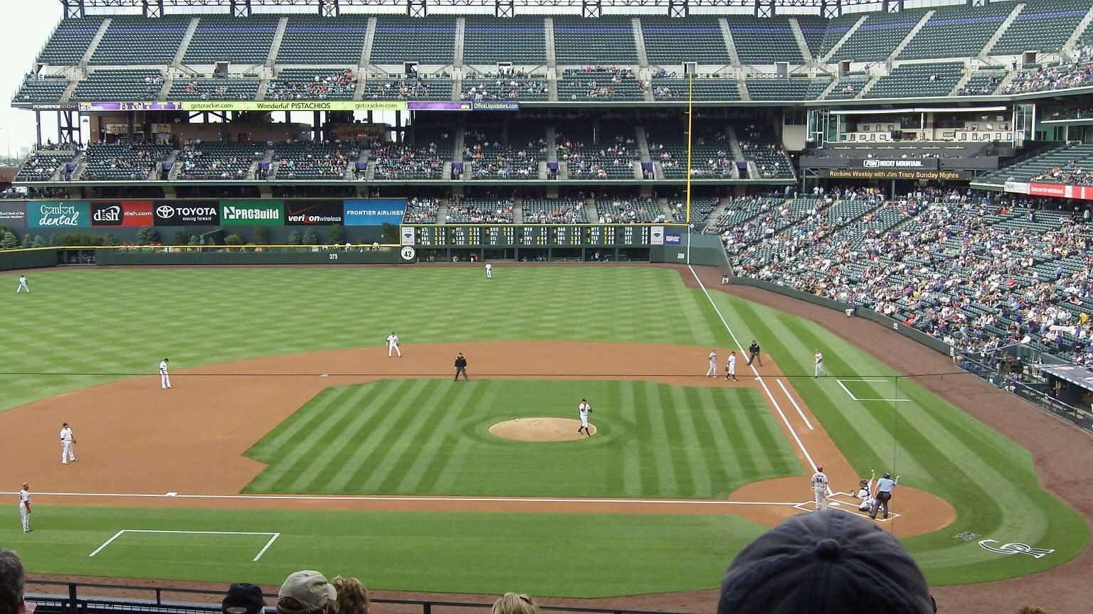 Coors Field Section 236 Row 9 Seat 6