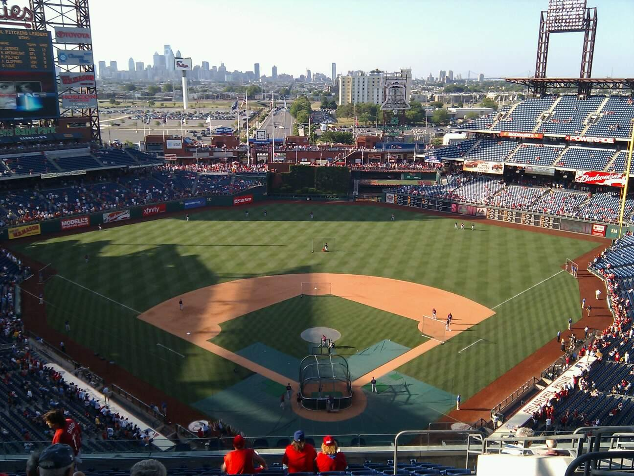 Citizens Bank Park Section 421 Row 13 Seat 6