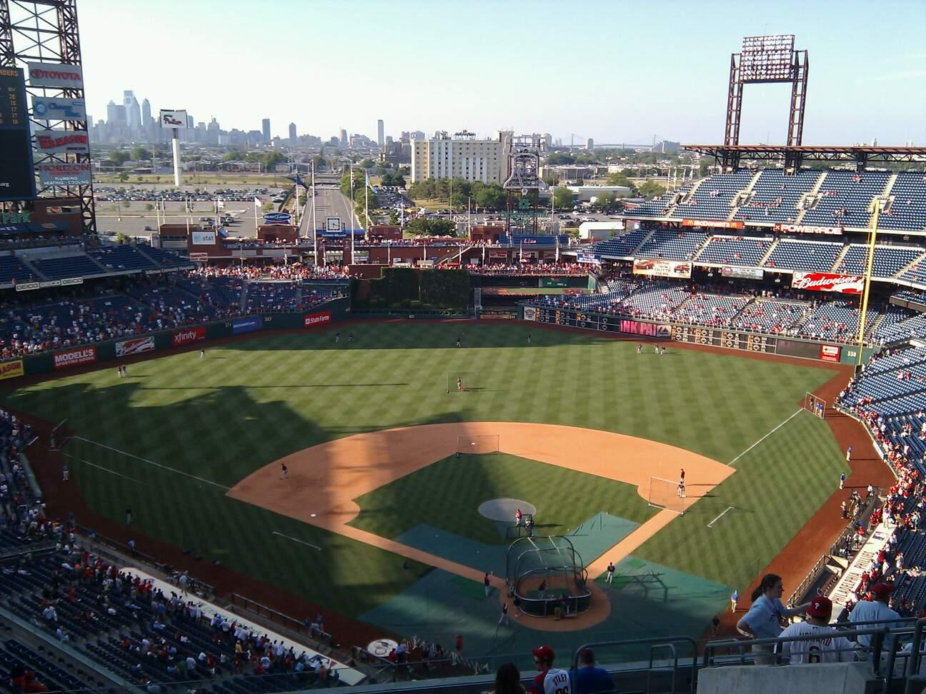 Citizens Bank Park Section 422 Row 14 Seat 8