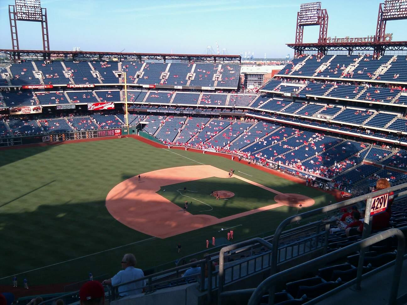Citizens Bank Park Section 430 Row 12 Seat 5