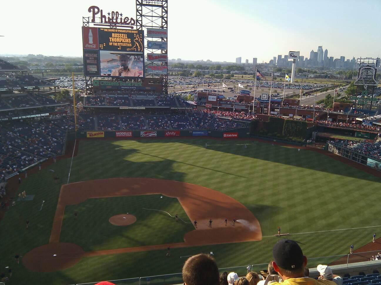 Citizens Bank Park Section 416 Row 13 Seat 20