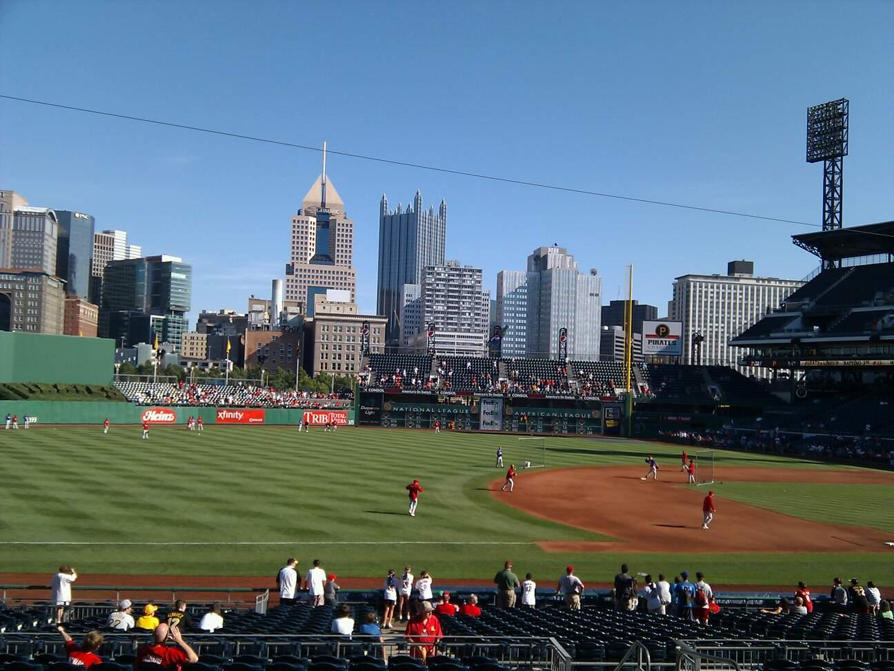 PNC Park Section 127 Row q Seat 8