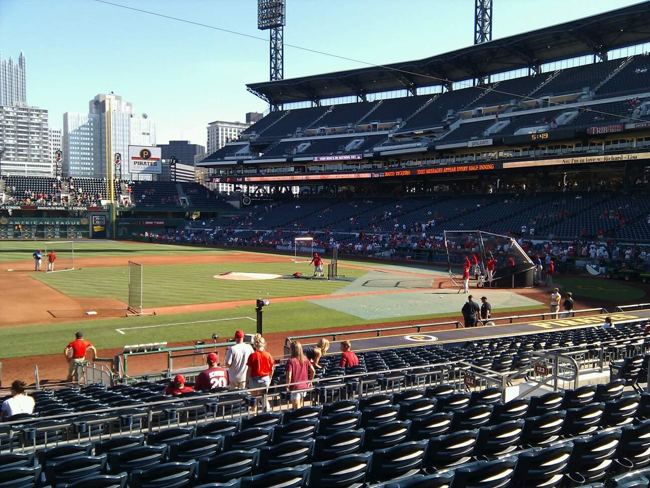 PNC Park Section 124 Row j Seat 14