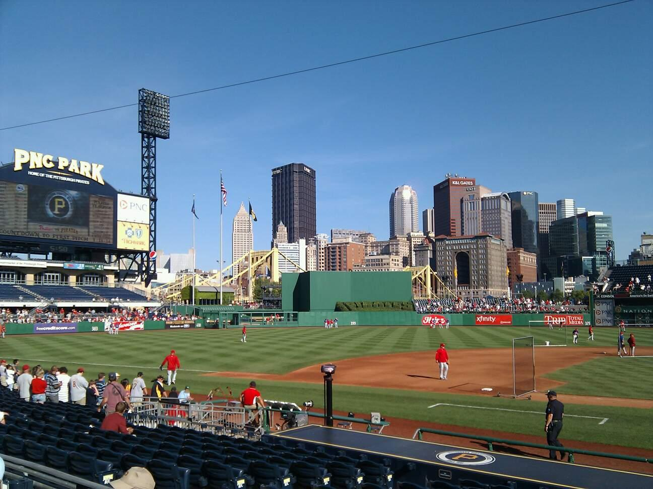 PNC Park Section 121 Row c Seat 15