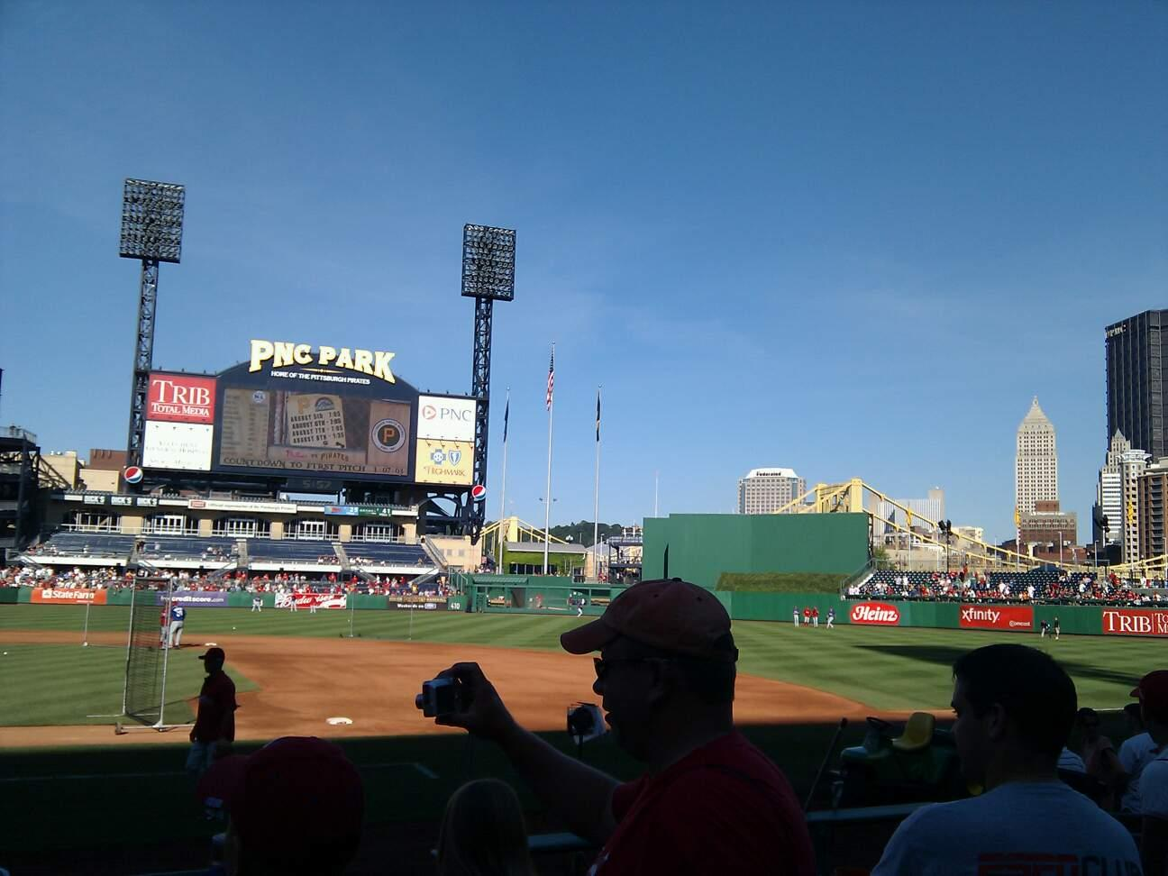 PNC Park Section 10 Row j Seat 11