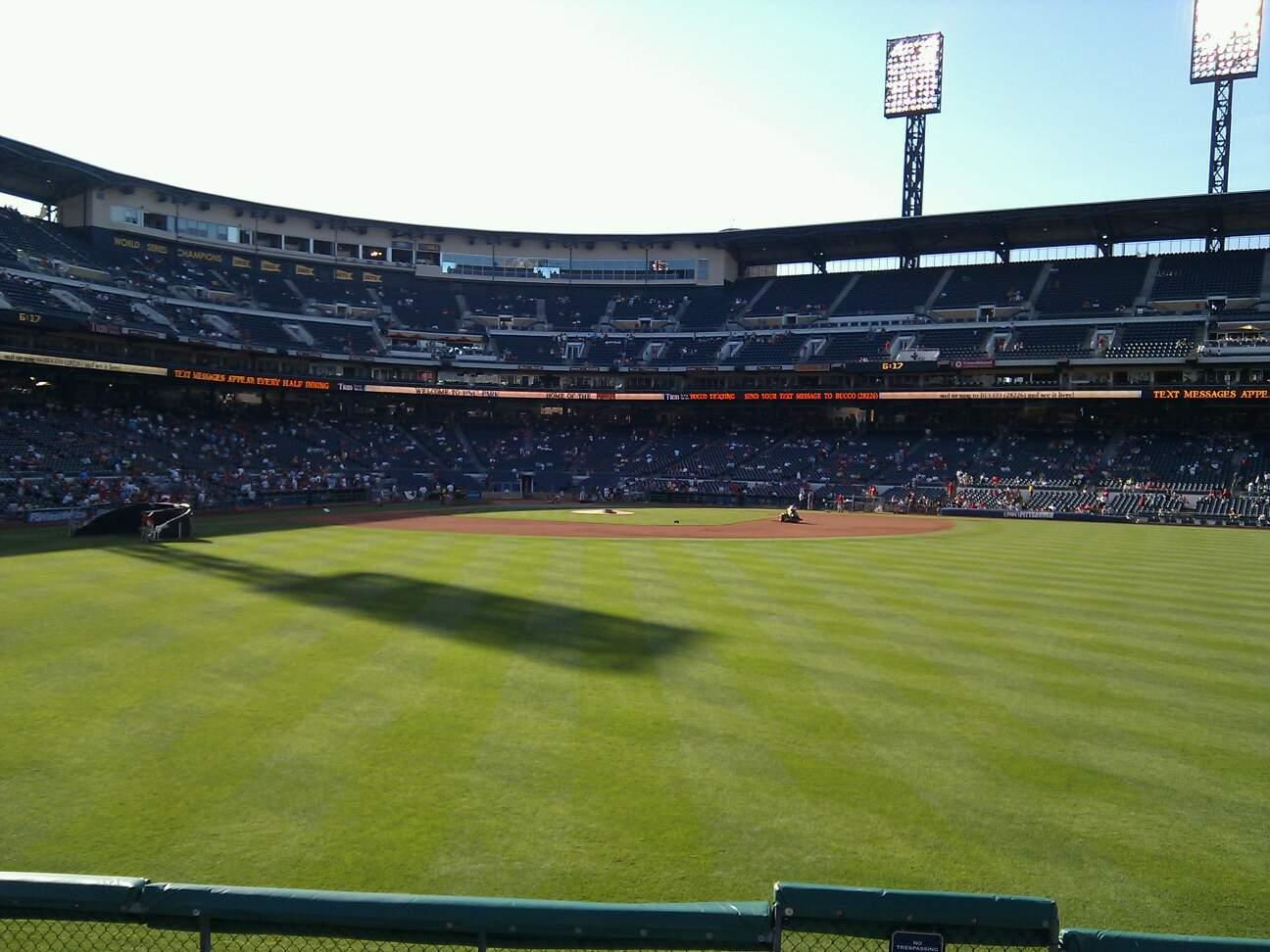 PNC Park Section 141 Row f Seat 1