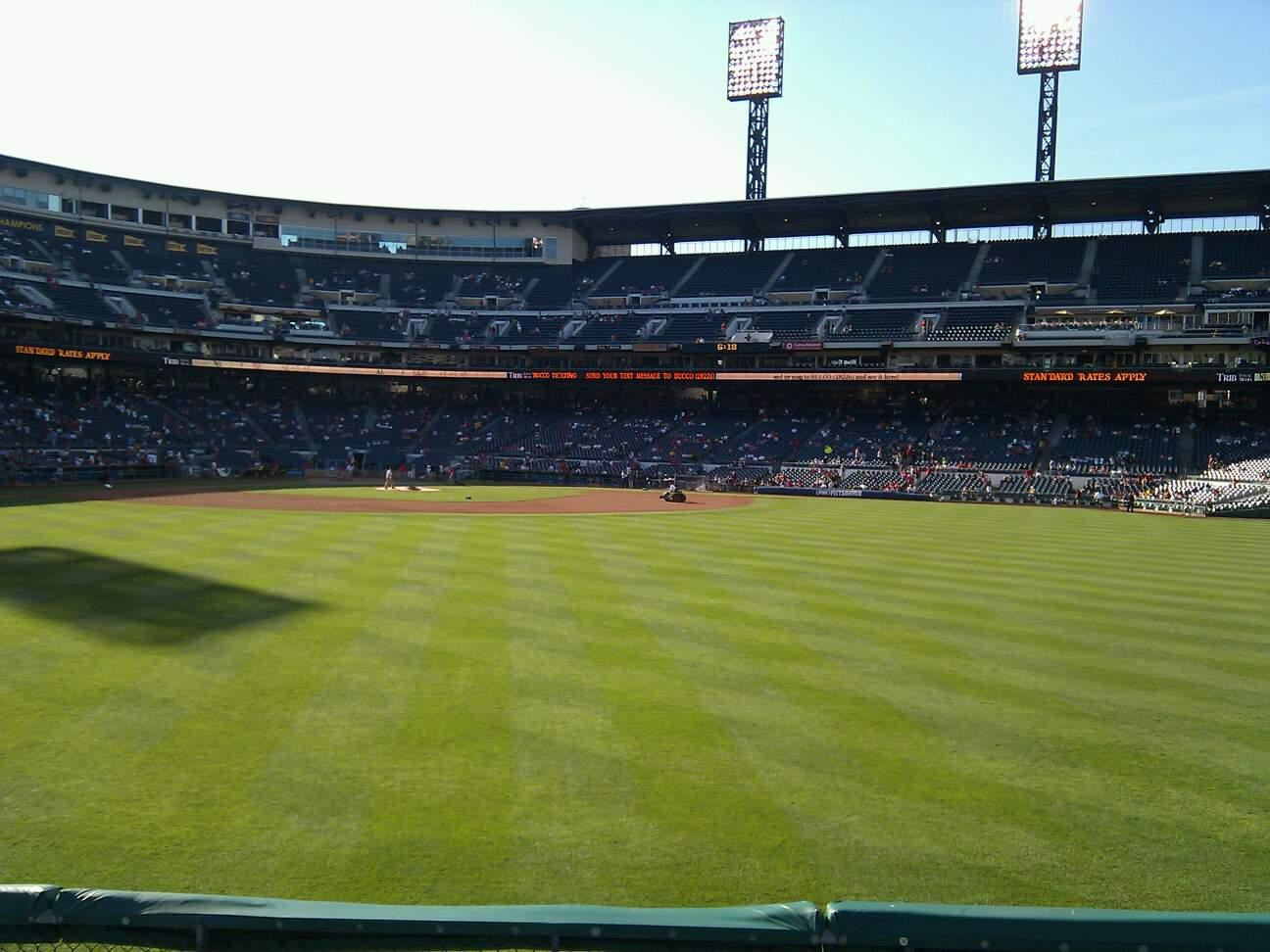 PNC Park Section 140 Row f Seat 10