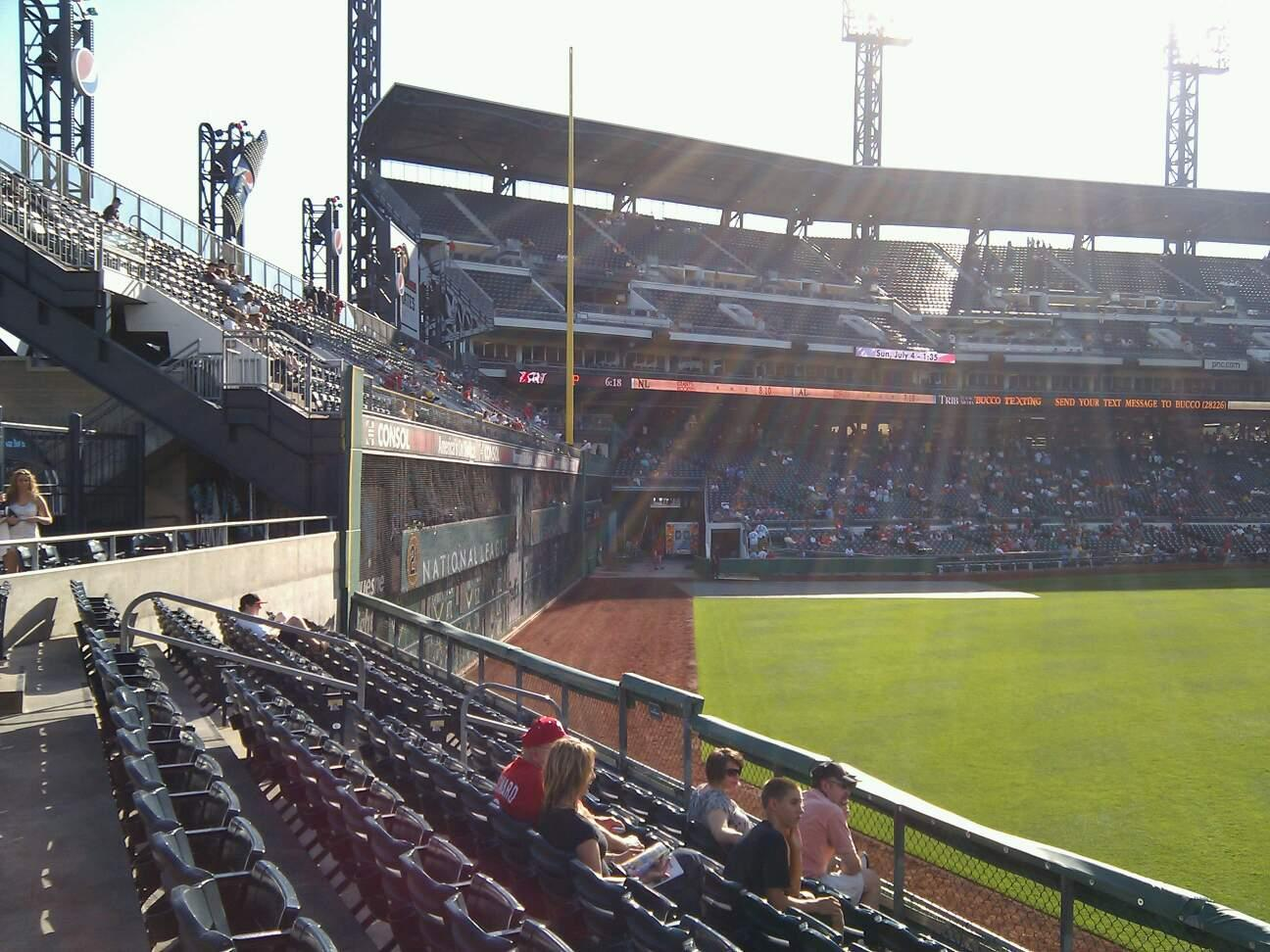 PNC Park Section 140 Row f Seat 6