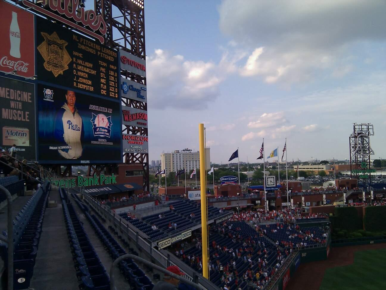 Citizens Bank Park Section 331 Row 3 Seat 19