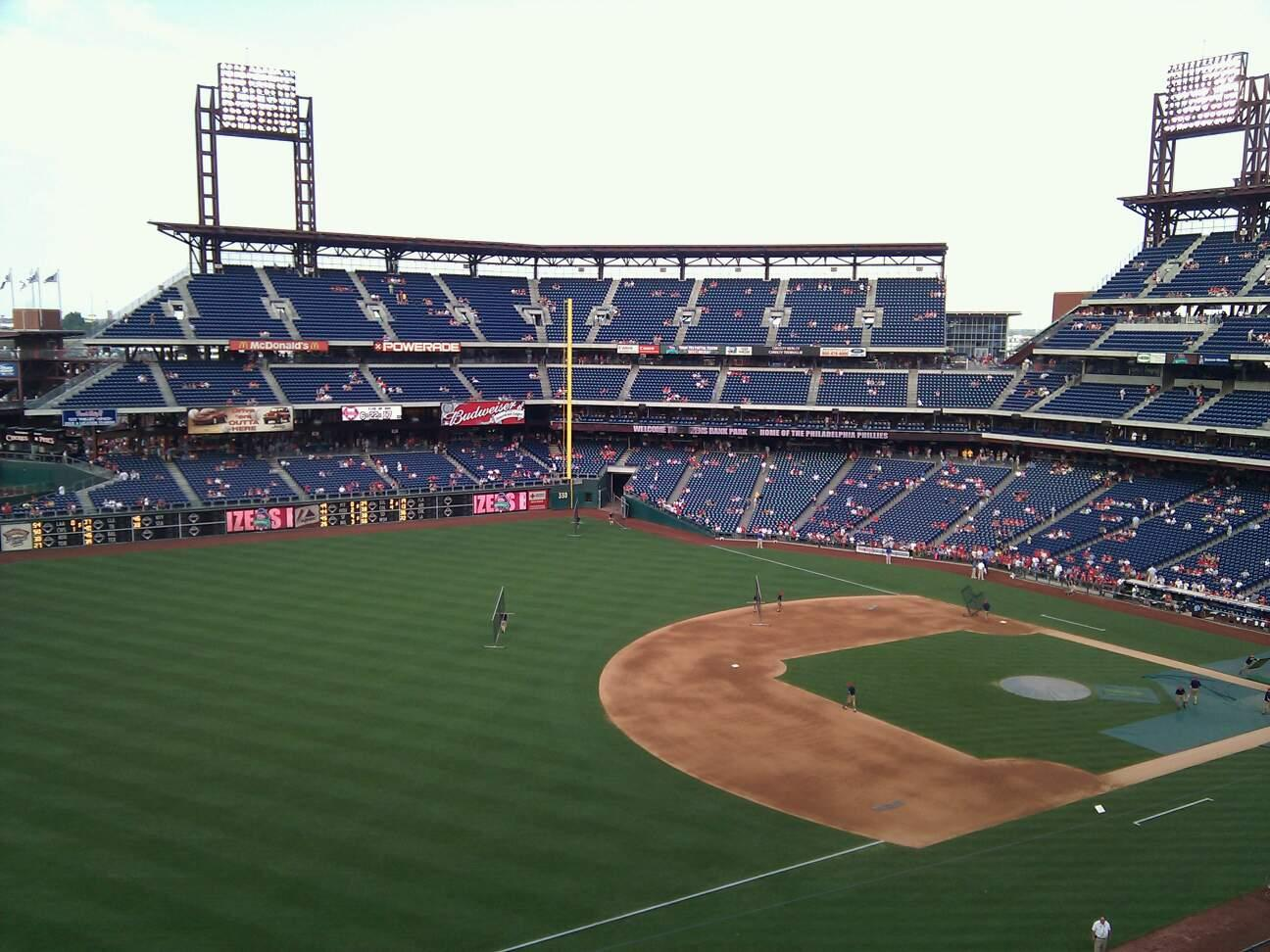 Citizens Bank Park Section 330 Row 3 Seat 20