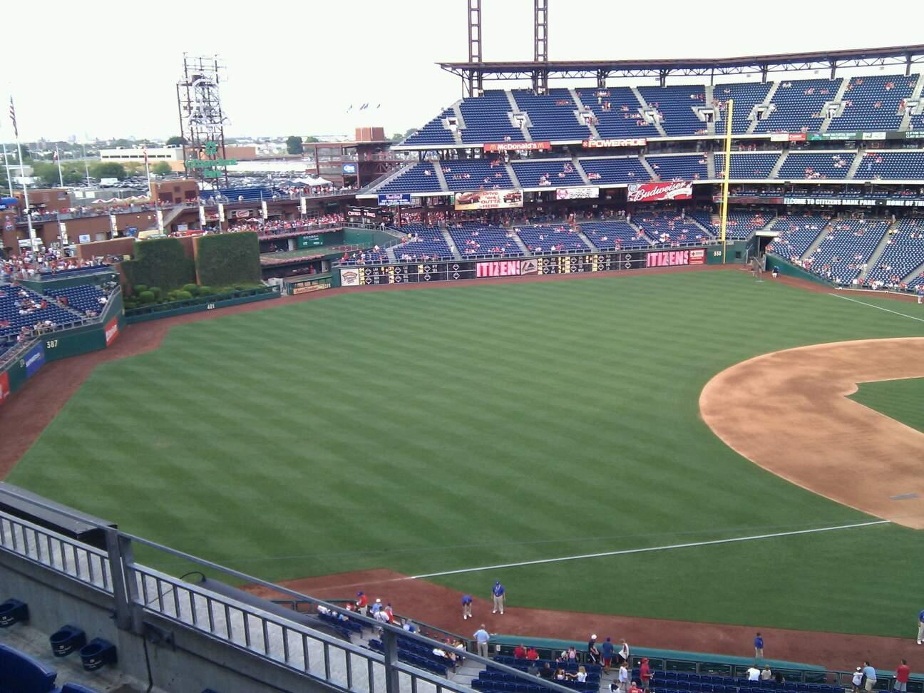 Citizens Bank Park Section 330 Row 3 Seat 6