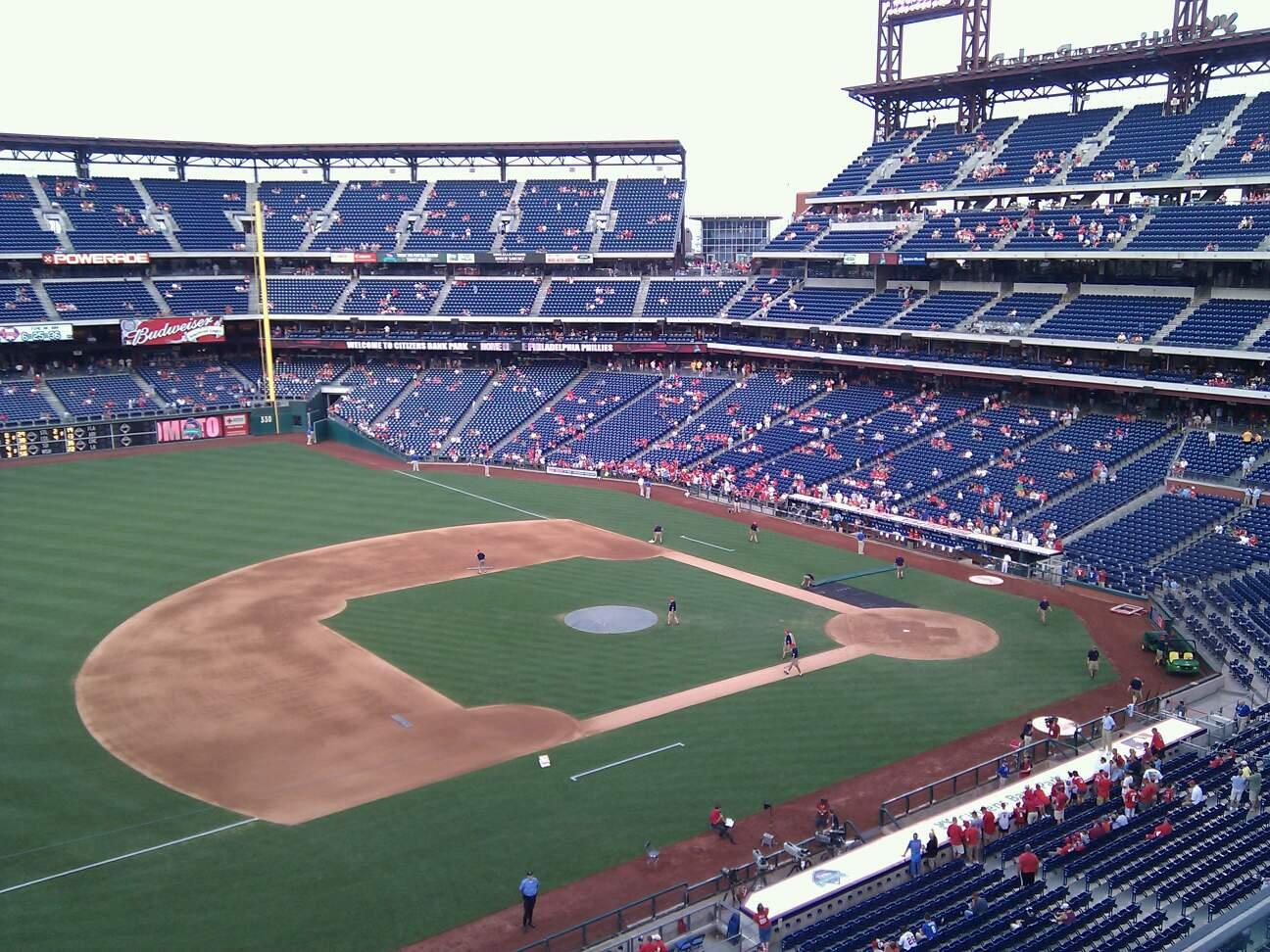 Citizens Bank Park Section 328 Row 1 Seat 22