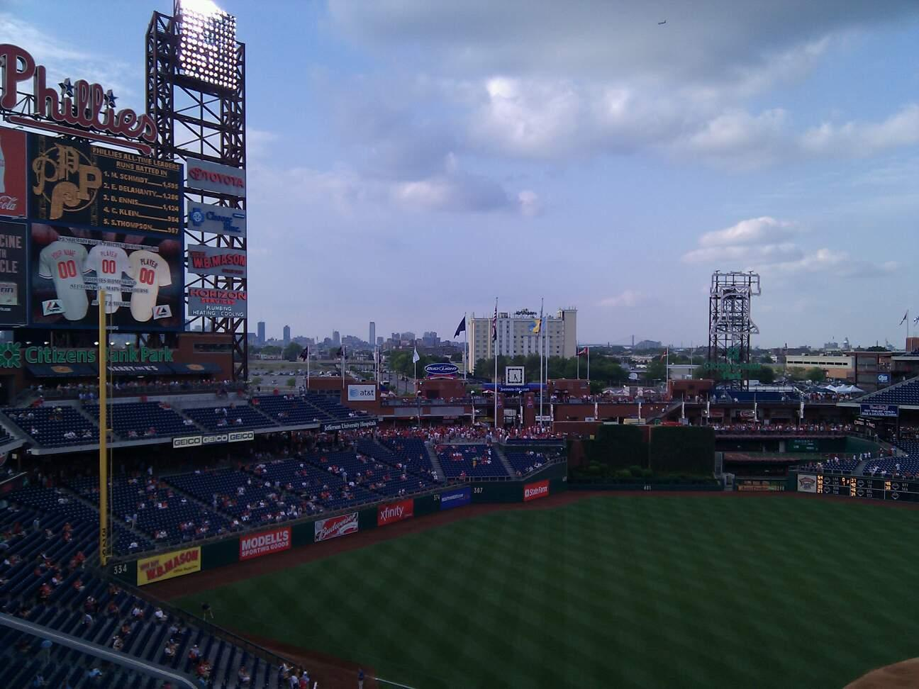 Citizens Bank Park Section 326 Row 1 Seat 20