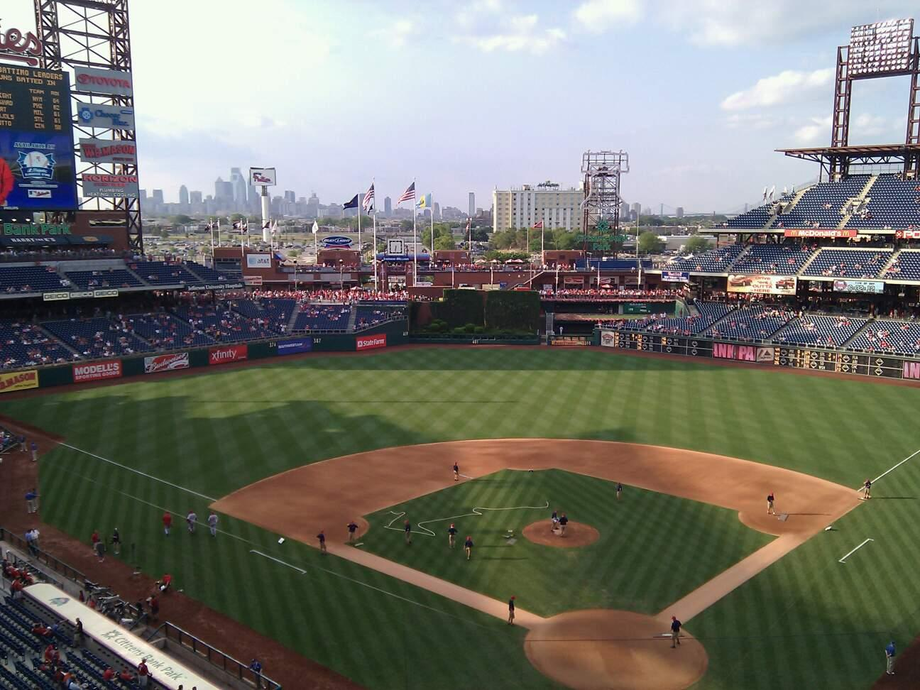 Citizens Bank Park Section 321 Row 1 Seat 20