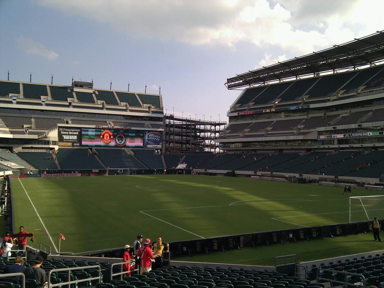 Lincoln Financial Field Section 127 Row 19 Seat 13