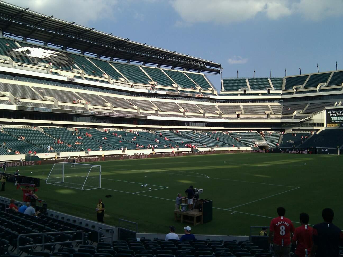 Lincoln Financial Field Section 132 Row 16 Seat 4