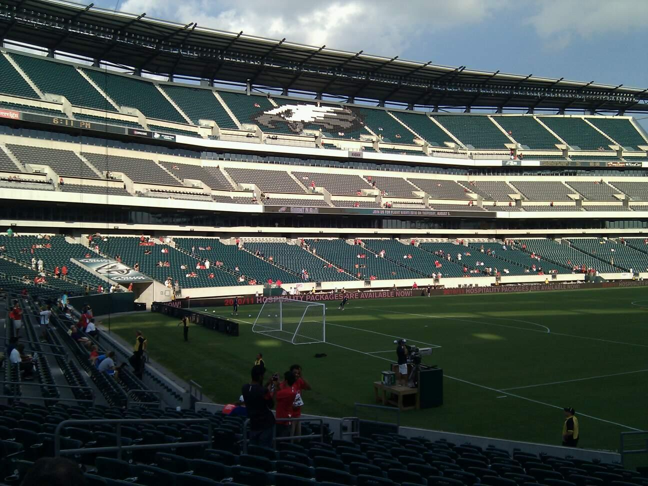 Lincoln Financial Field Section 133 Row 16 Seat 8