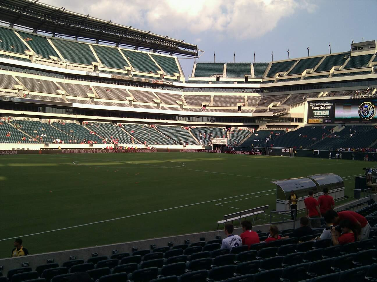 Lincoln Financial Field Section 136 Row 11 Seat 20