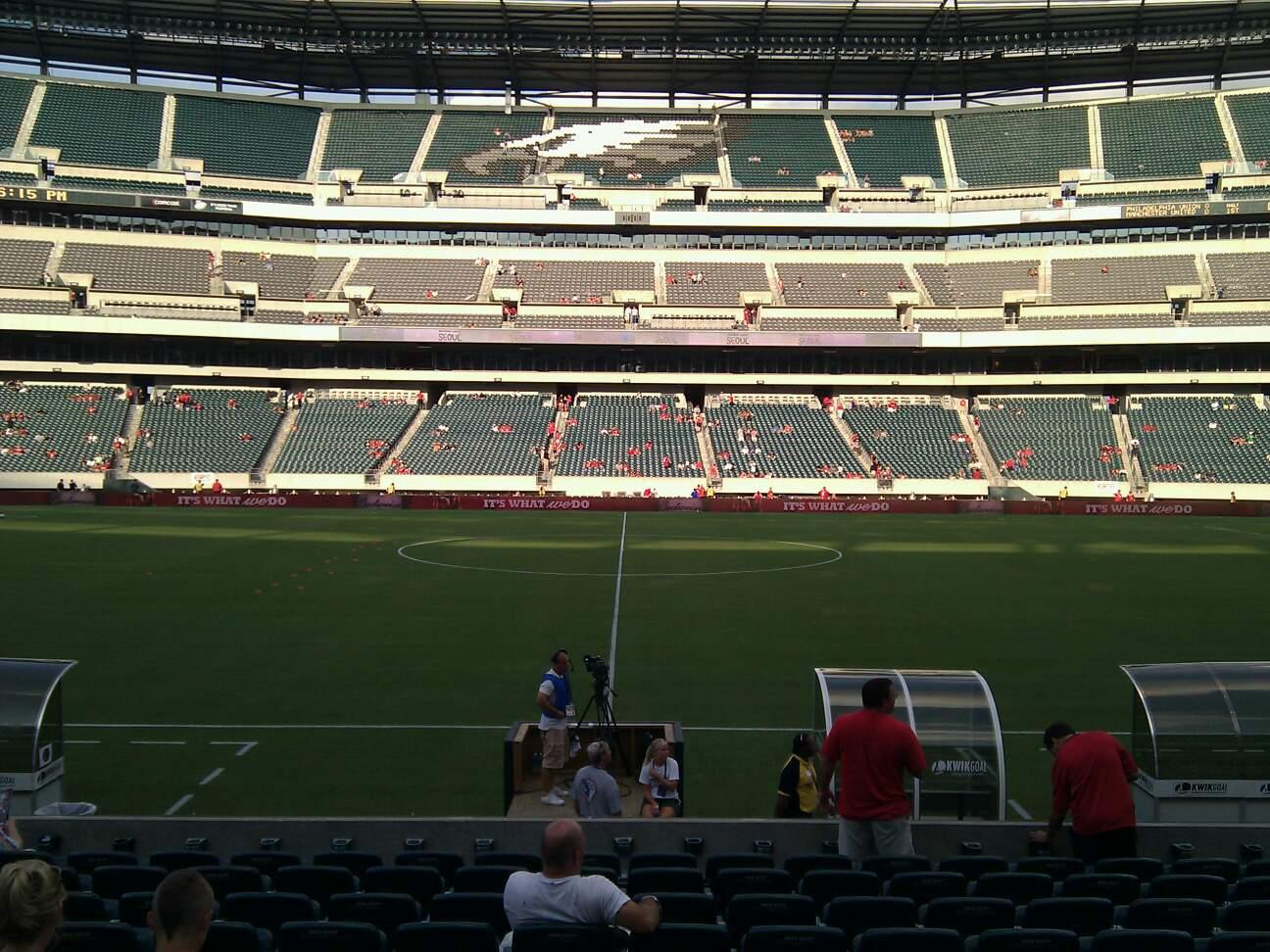 Lincoln Financial Field Section 101 Row 11 Seat 12