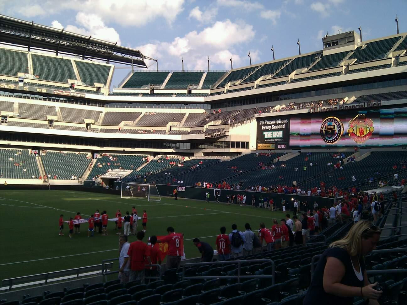 Lincoln Financial Field Section 102 Row 12 Seat 12