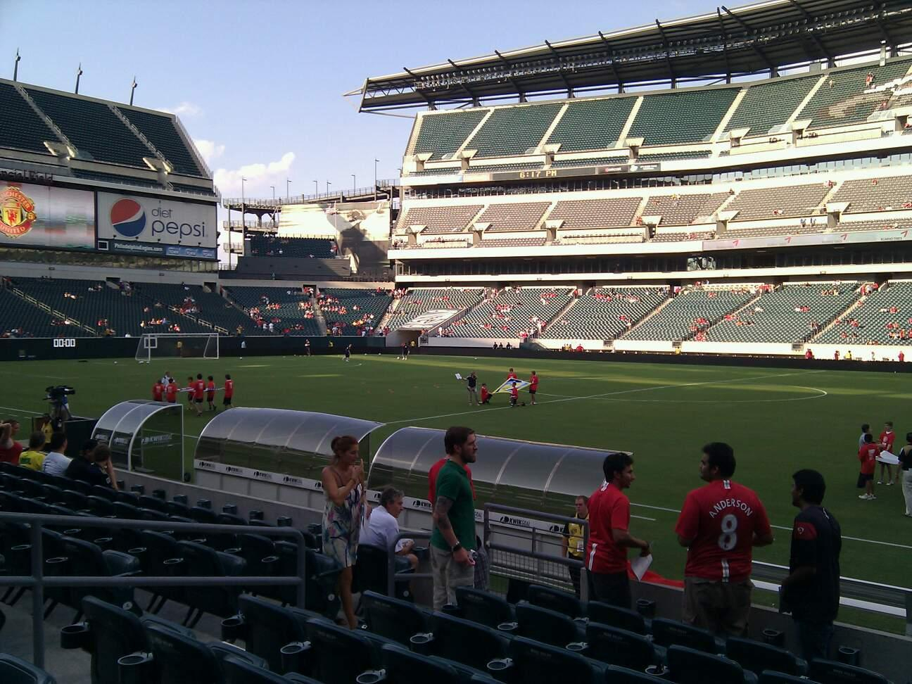 Lincoln Financial Field Section 103 Row 8 Seat 10
