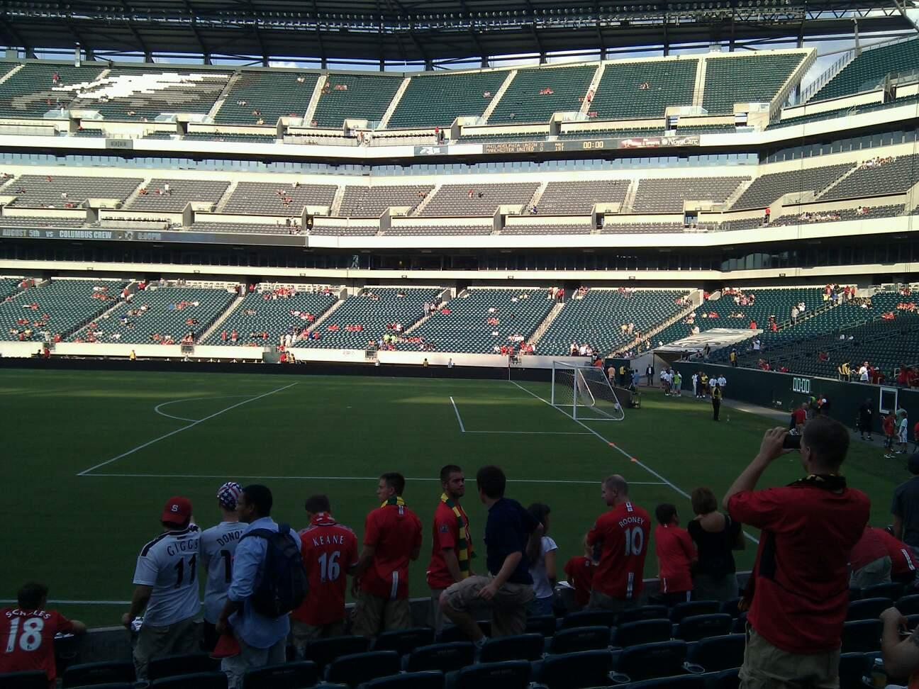Lincoln Financial Field Section 105 Row 9 Seat 21