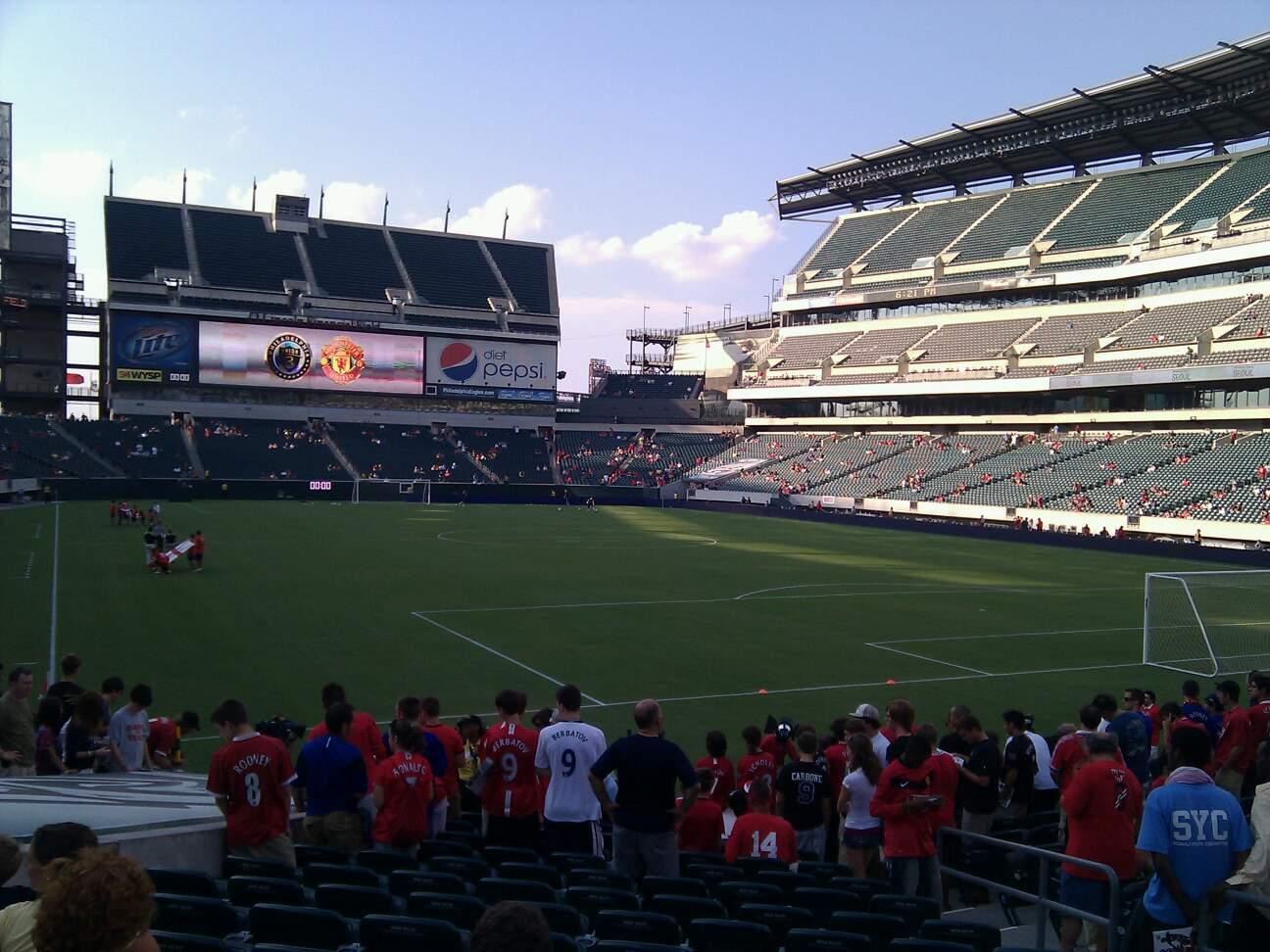 Lincoln Financial Field Section 108 Row 14 Seat 7