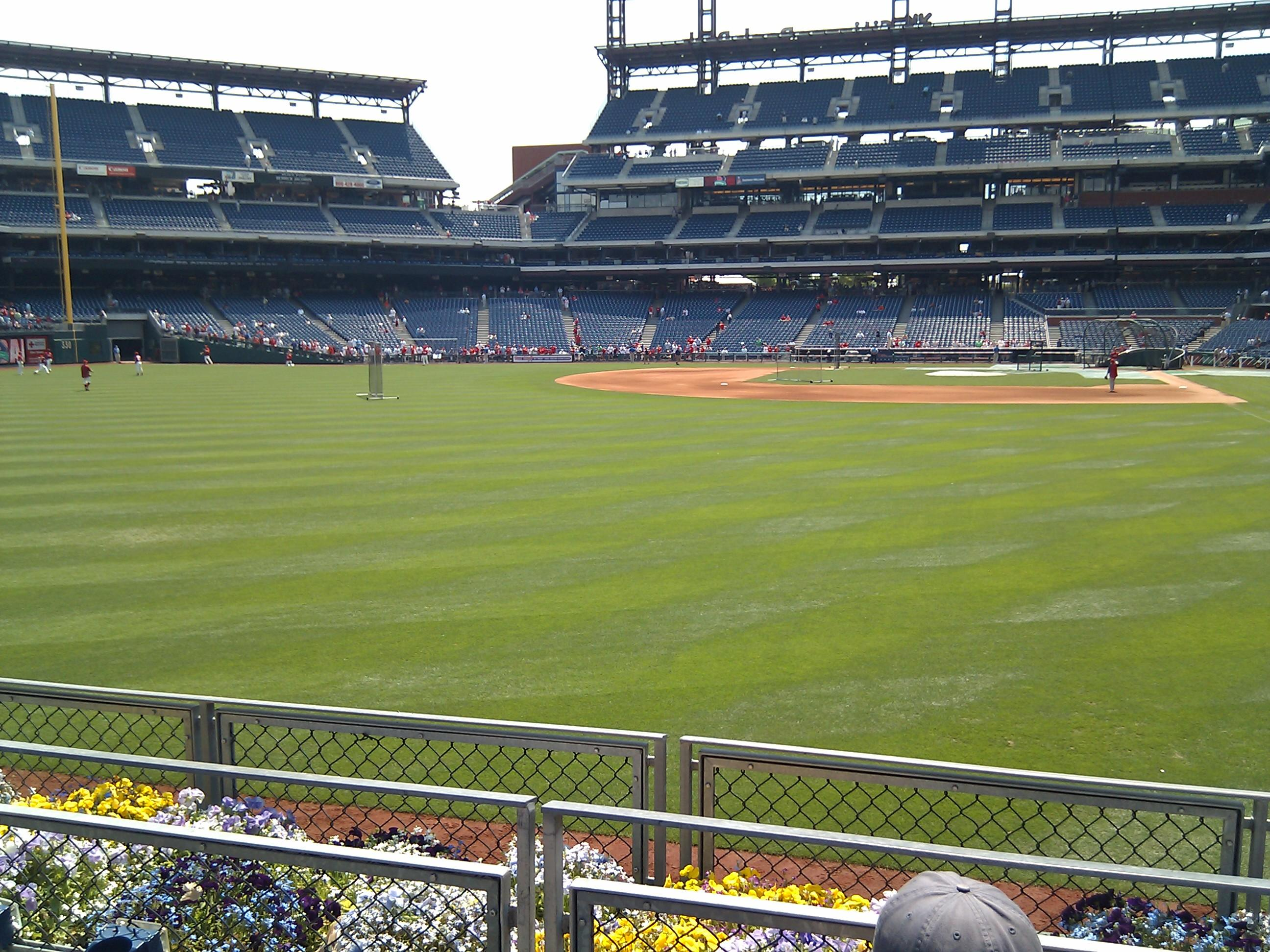 Citizens Bank Park Section 142 Row 3 Seat 4