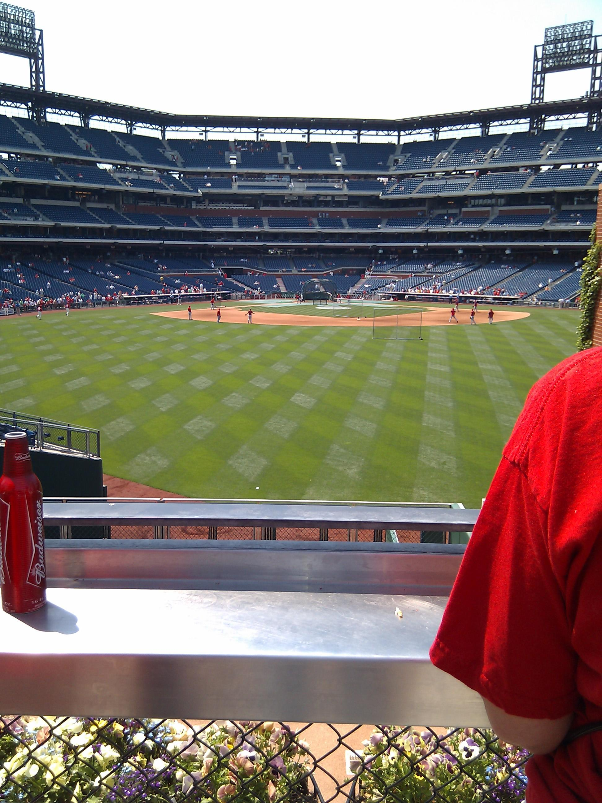Citizens Bank Park Section Relievers Row 1