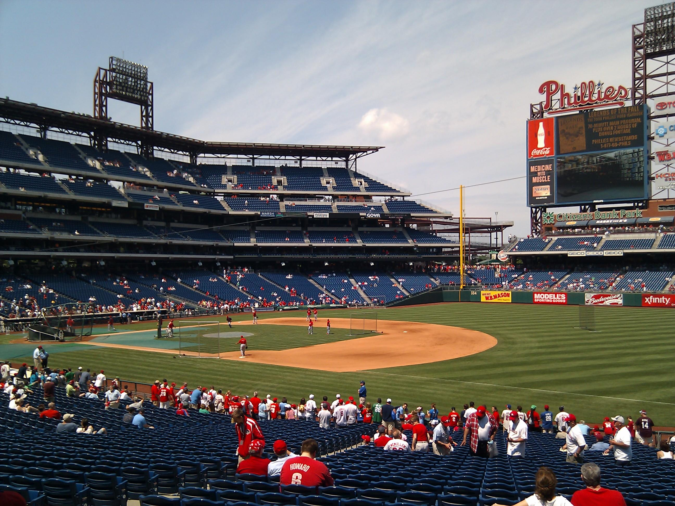 Citizens Bank Park Section 112 Row 35 Seat 11