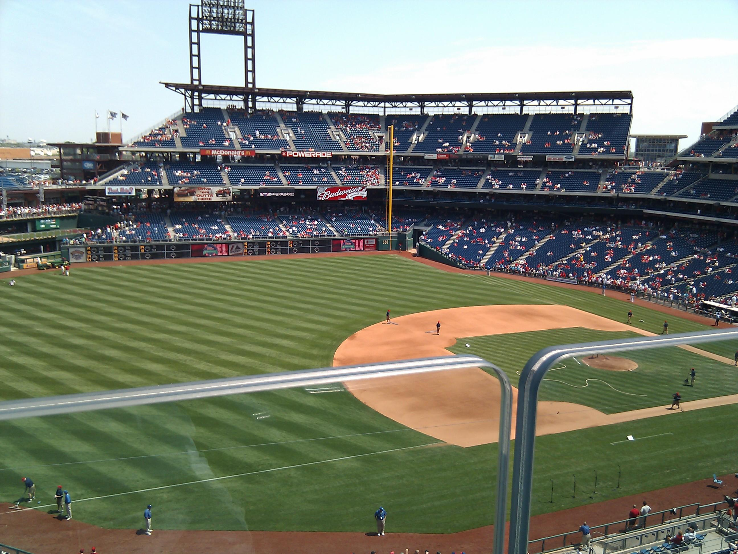 Citizens Bank Park Section 320 Row 1 Seat 16