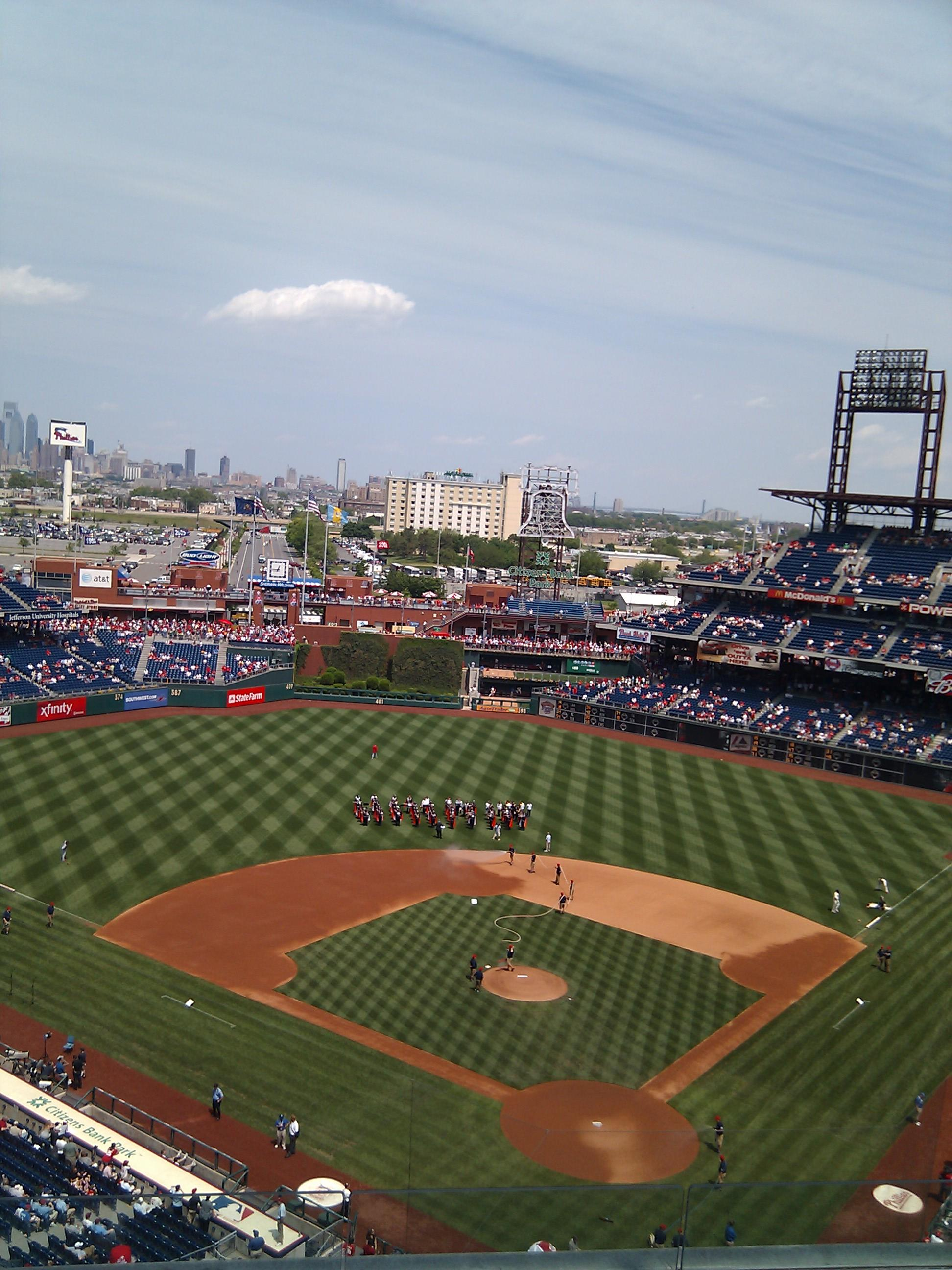 Citizens Bank Park Section 422 Row 6 Seat 11