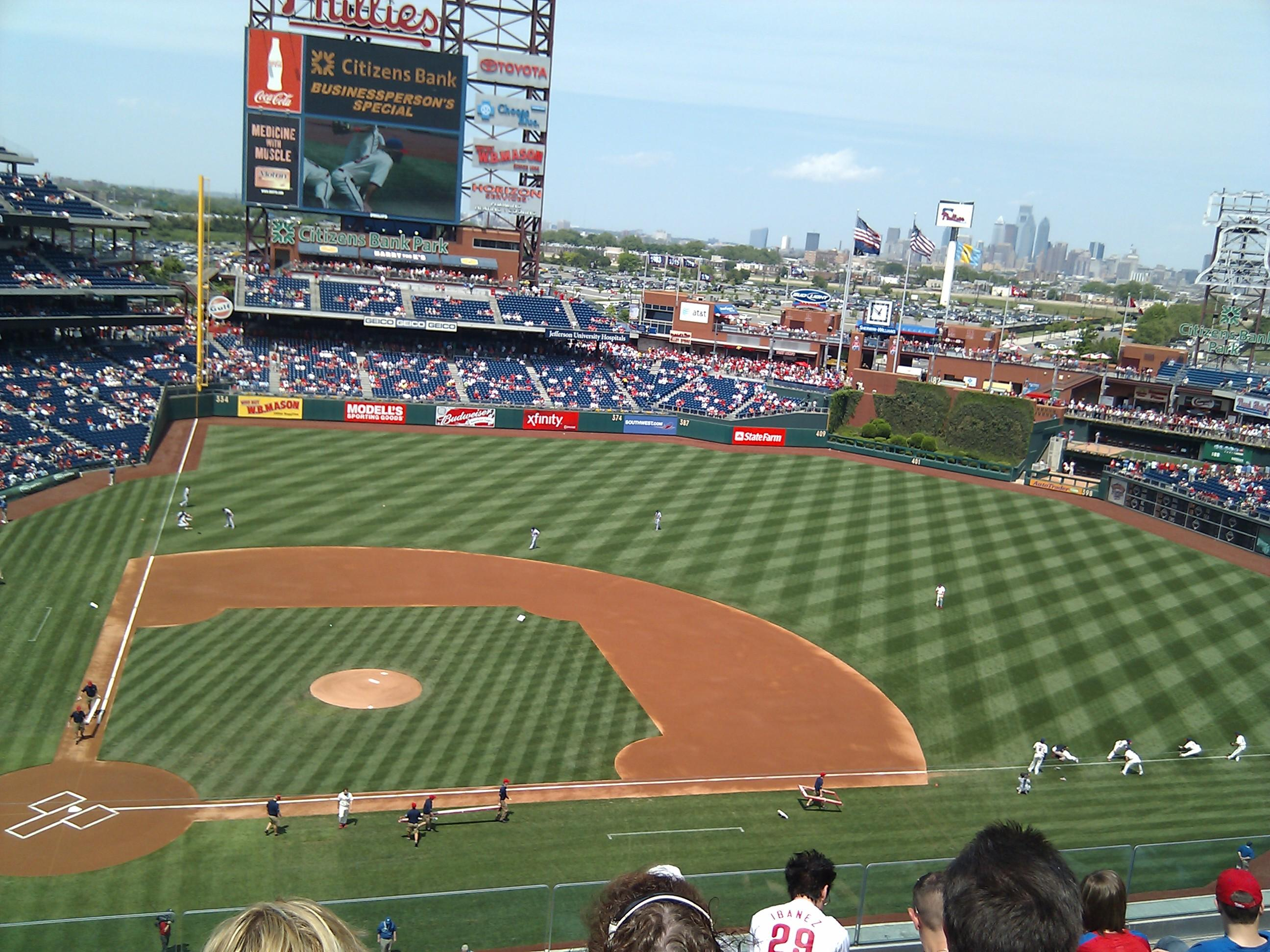 Citizens Bank Park Section 316 Row 6 Seat 21