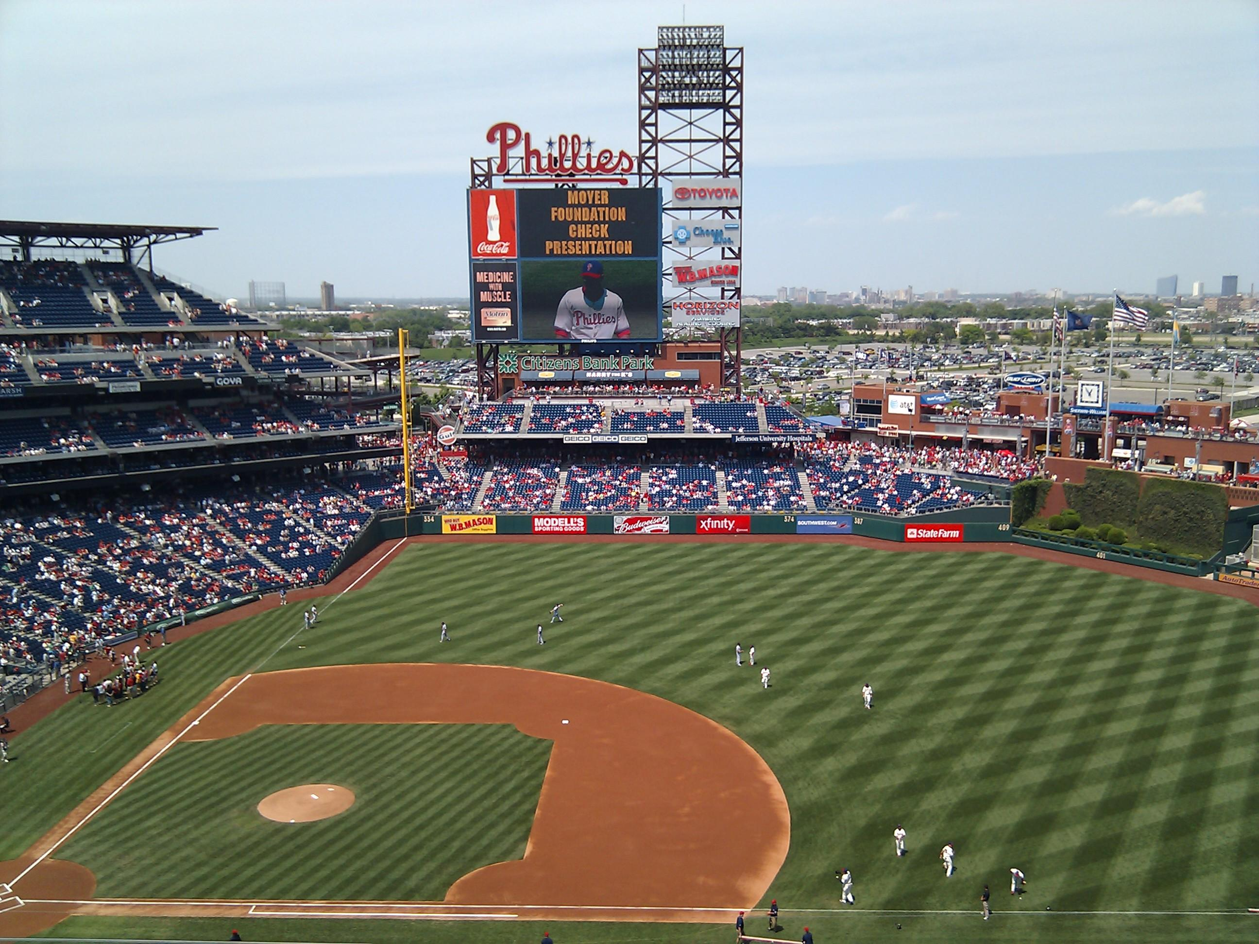 Citizens Bank Park Section 414 Row 5 Seat 16