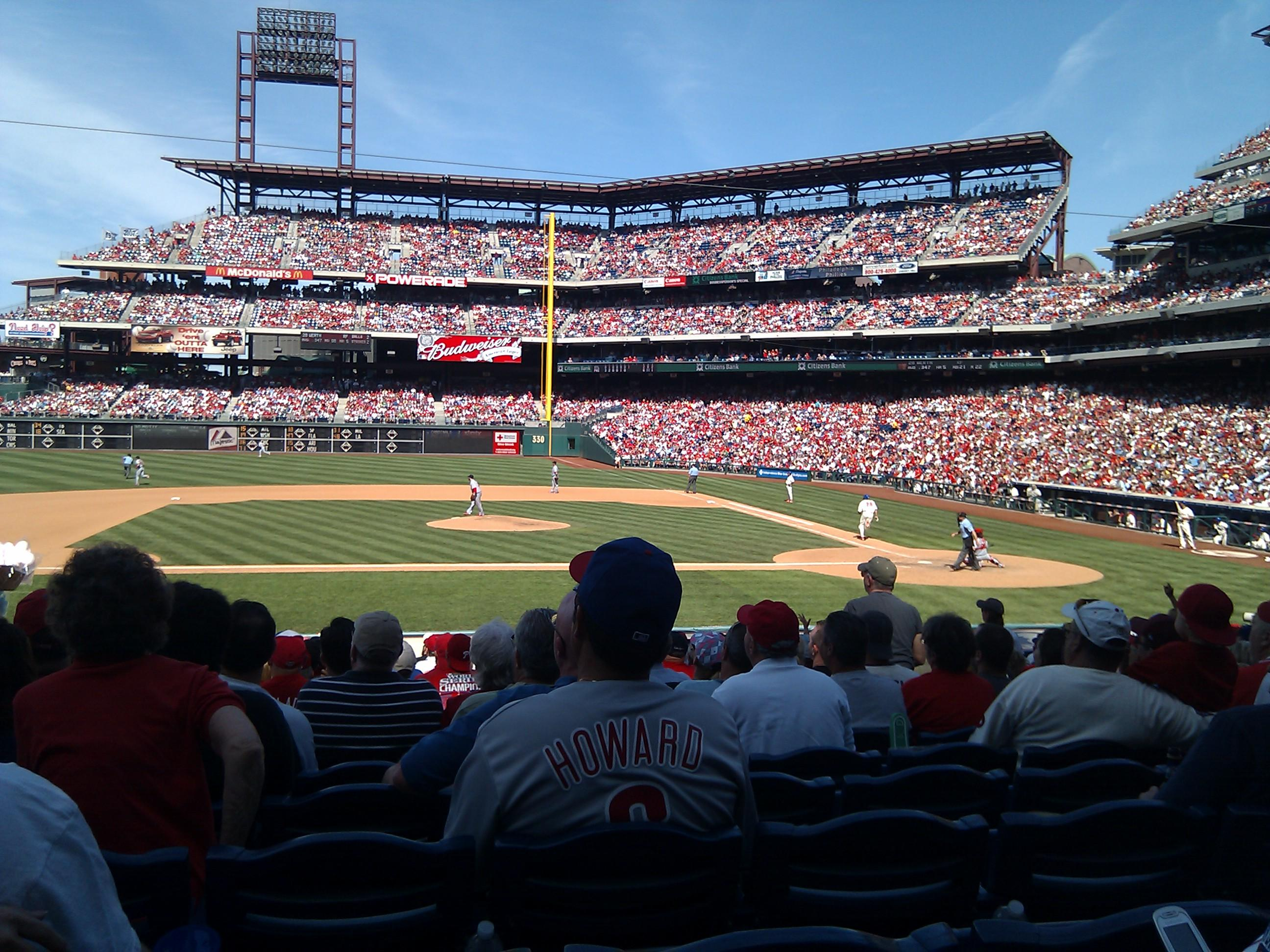 Citizens Bank Park Section 130 Row 20 Seat 12