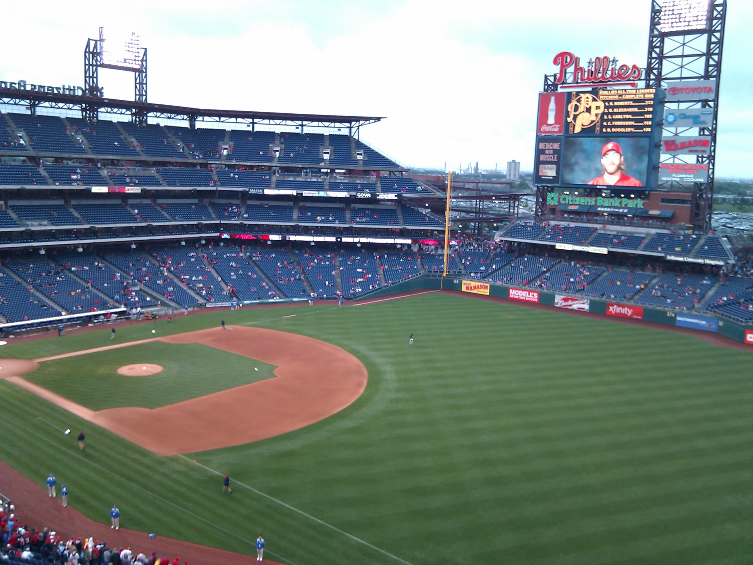 Citizens Bank Park Section 309 Row 11 Seat 14