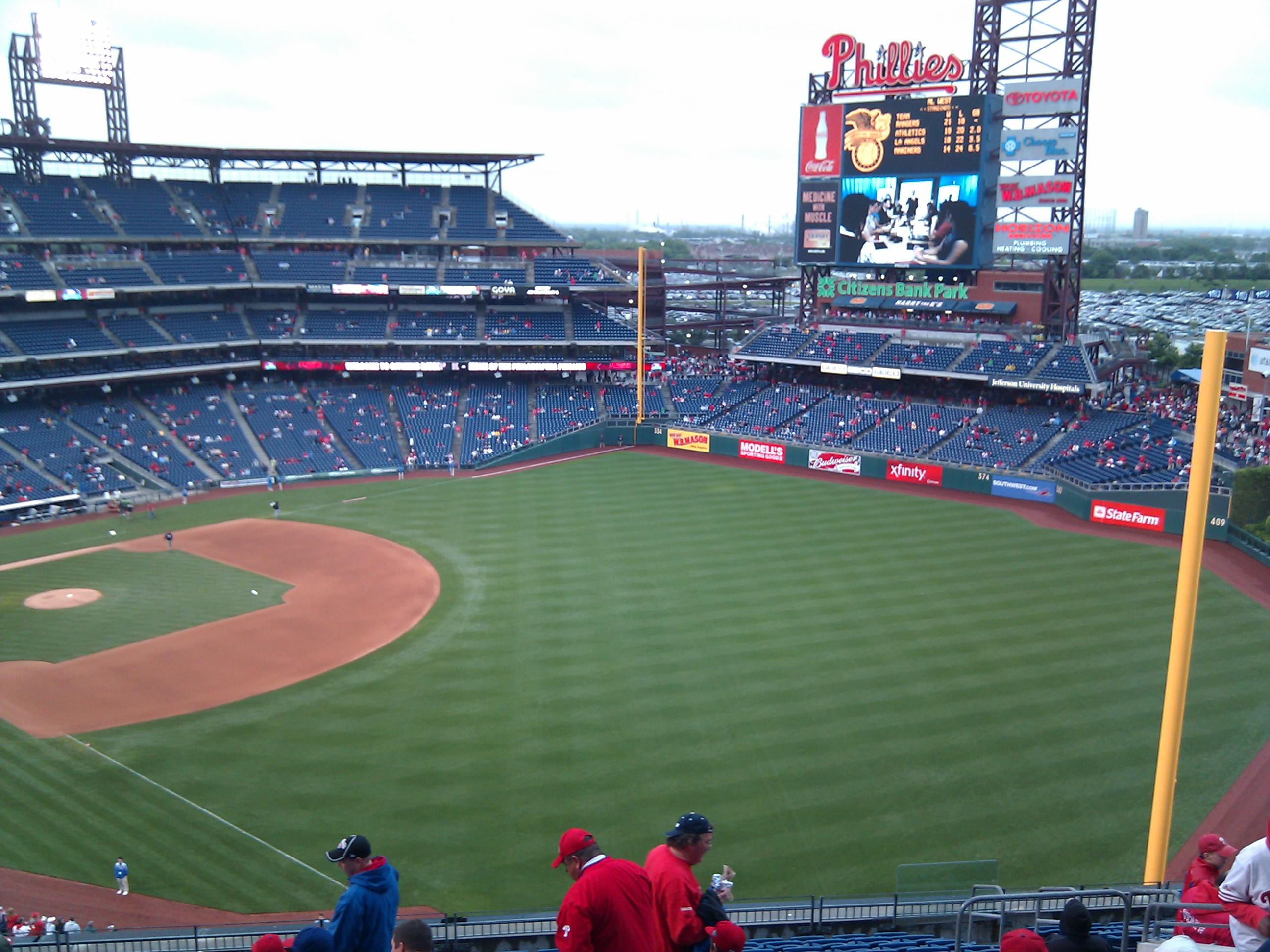 Citizens Bank Park Section 308 Row 16 Seat 9