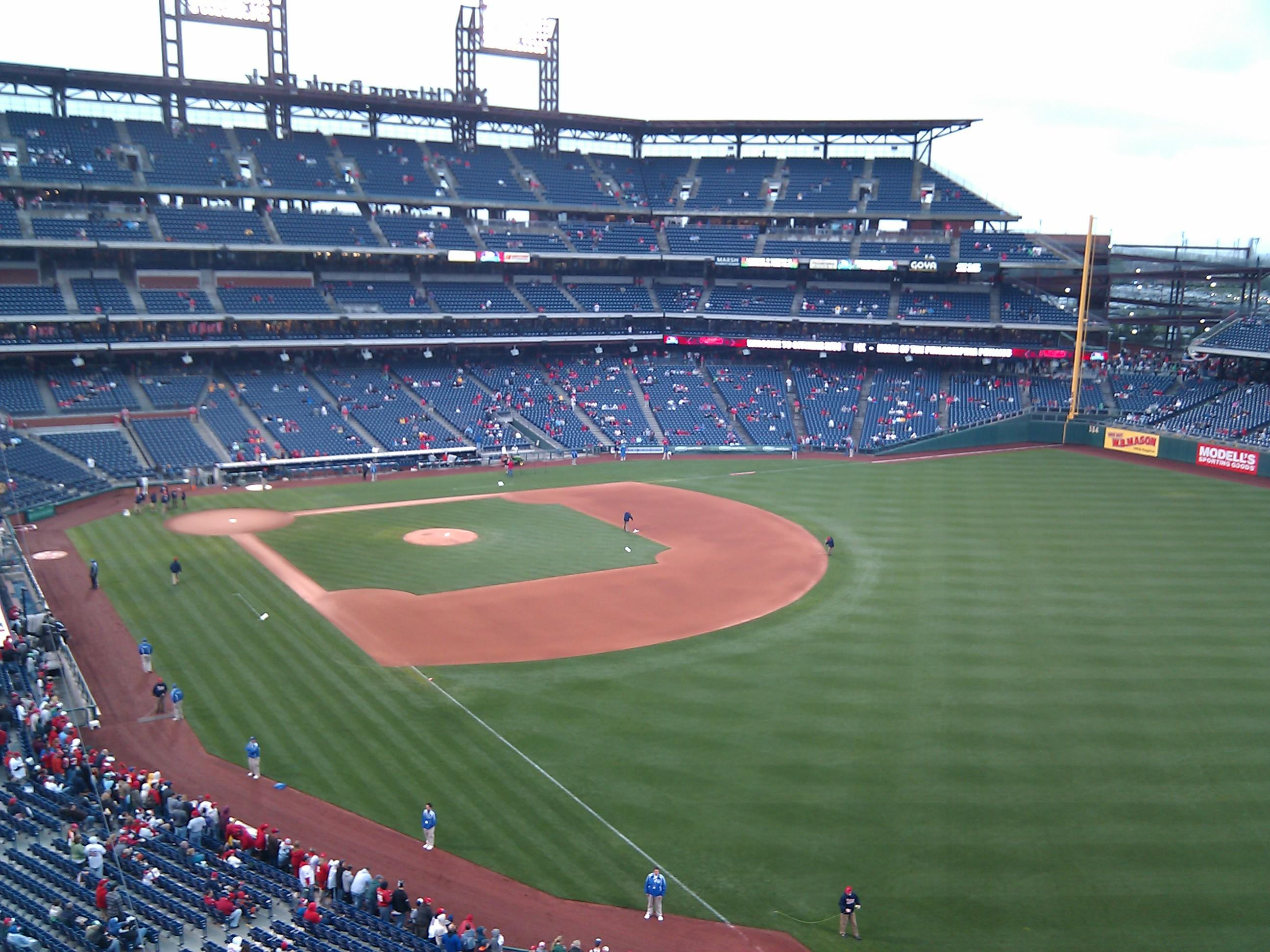 Citizens Bank Park Section 308 Row 1 Seat 12