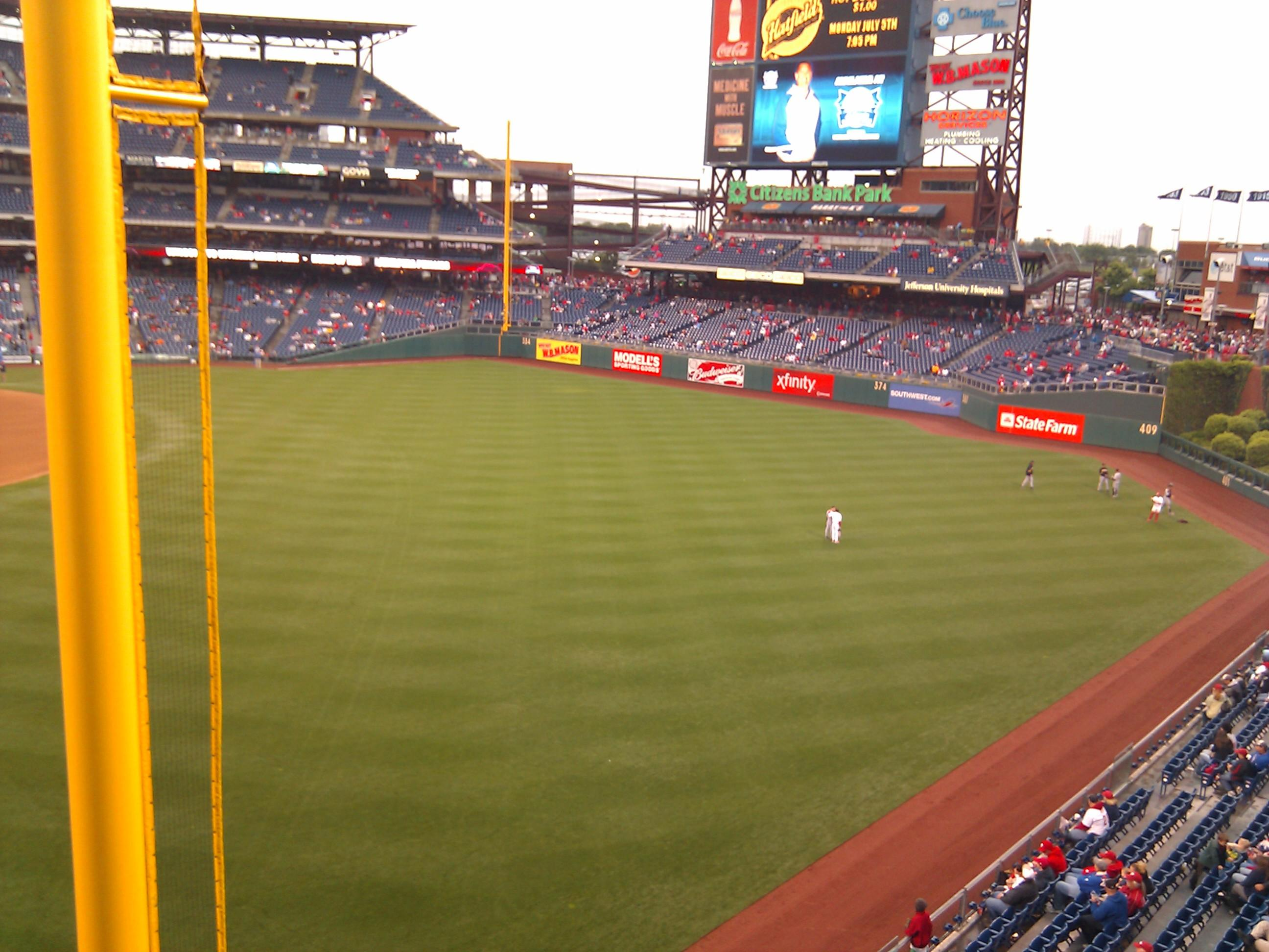 Citizens Bank Park Section 206 Row 1 Seat 5