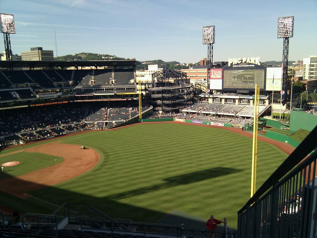 PNC Park Section 301 Row v Seat 1